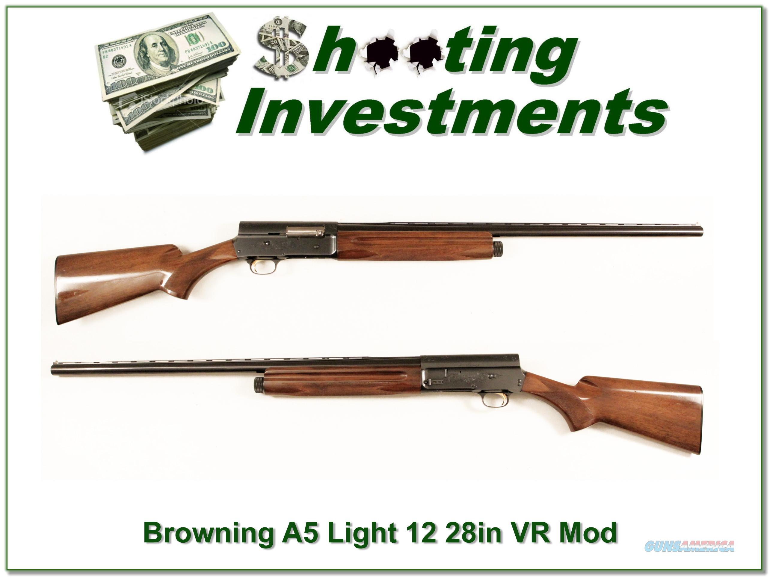 Browning A5 Light 12 28in Vent Rib modified Exc Cond!  Guns > Shotguns > Browning Shotguns > Autoloaders > Hunting