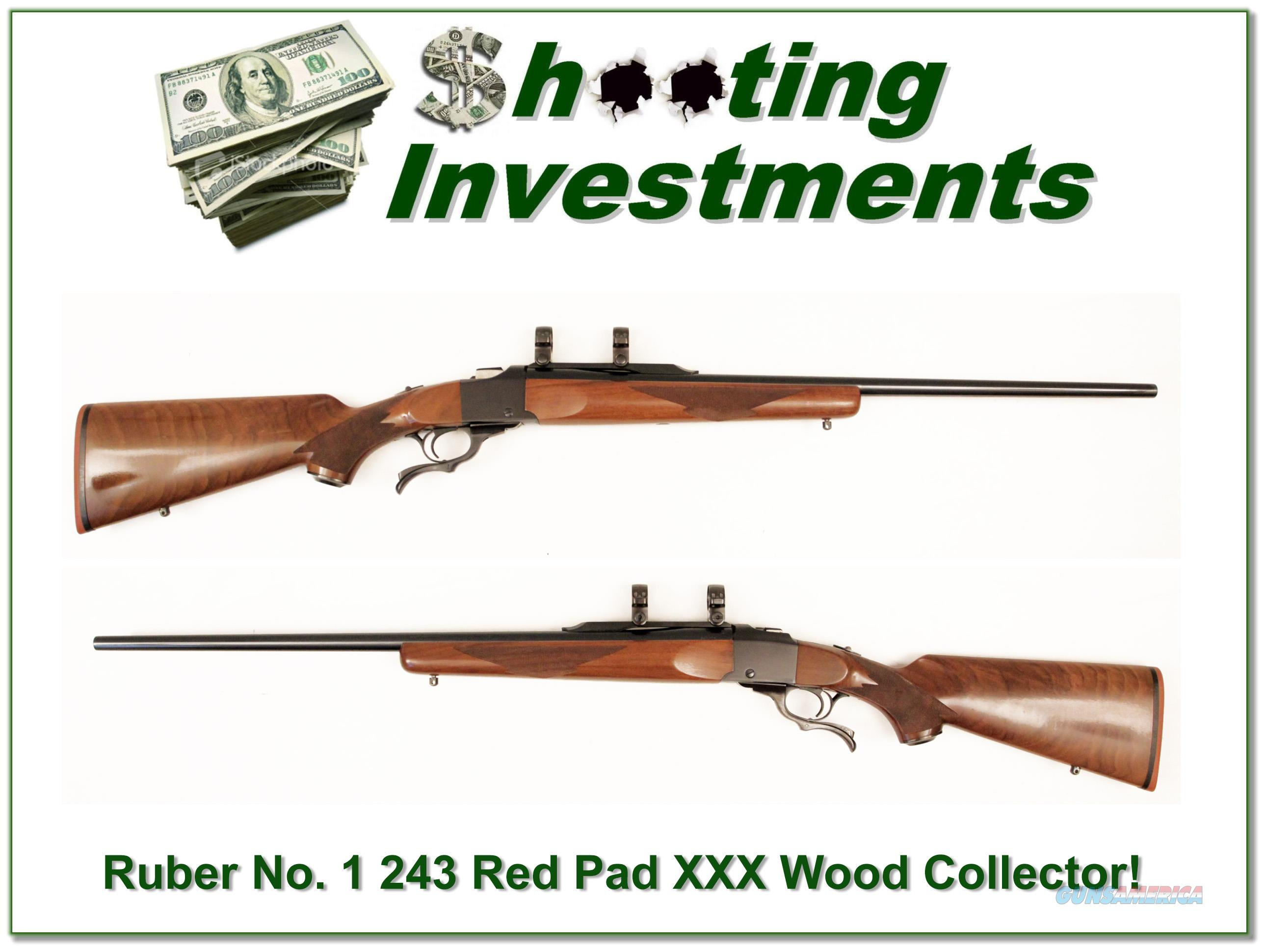 Ruger No. 1 Red Pad 243 Win XX Wood!  Guns > Rifles > Ruger Rifles > #1 Type