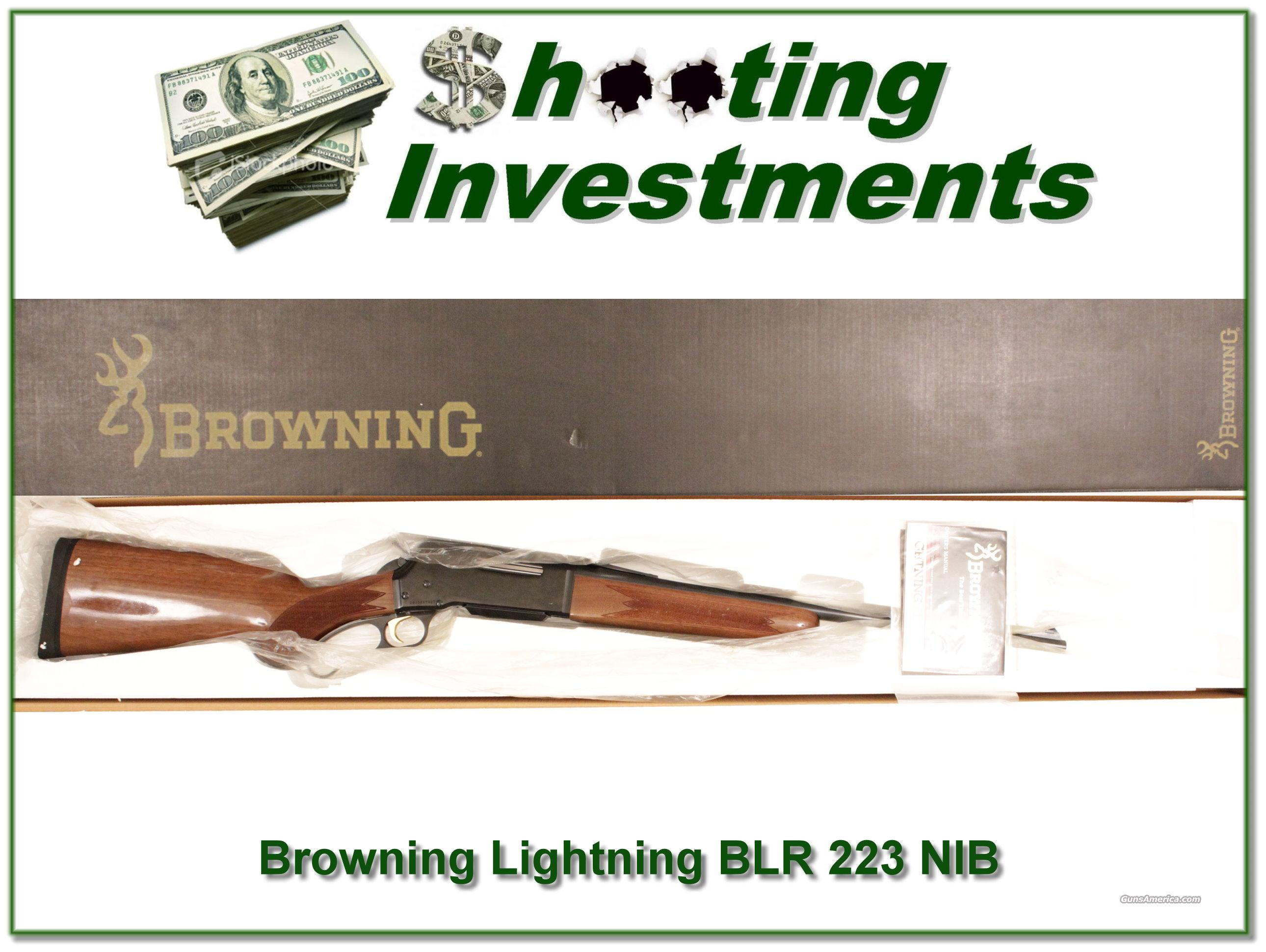 Browning Lightning BLR 223 NIB  Guns > Rifles > Browning Rifles > Lever Action