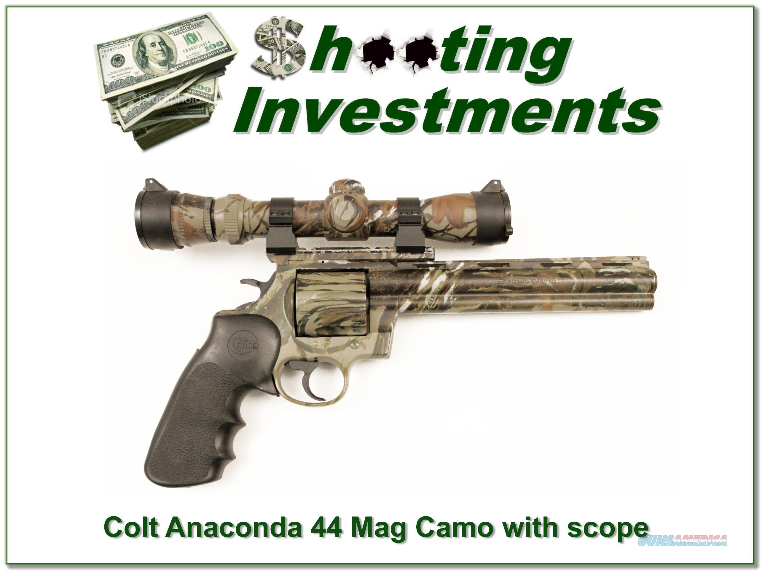Colt Anaconda 8 in Camo with Redfield Camo scope  Guns > Pistols > Colt Double Action Revolvers- Modern
