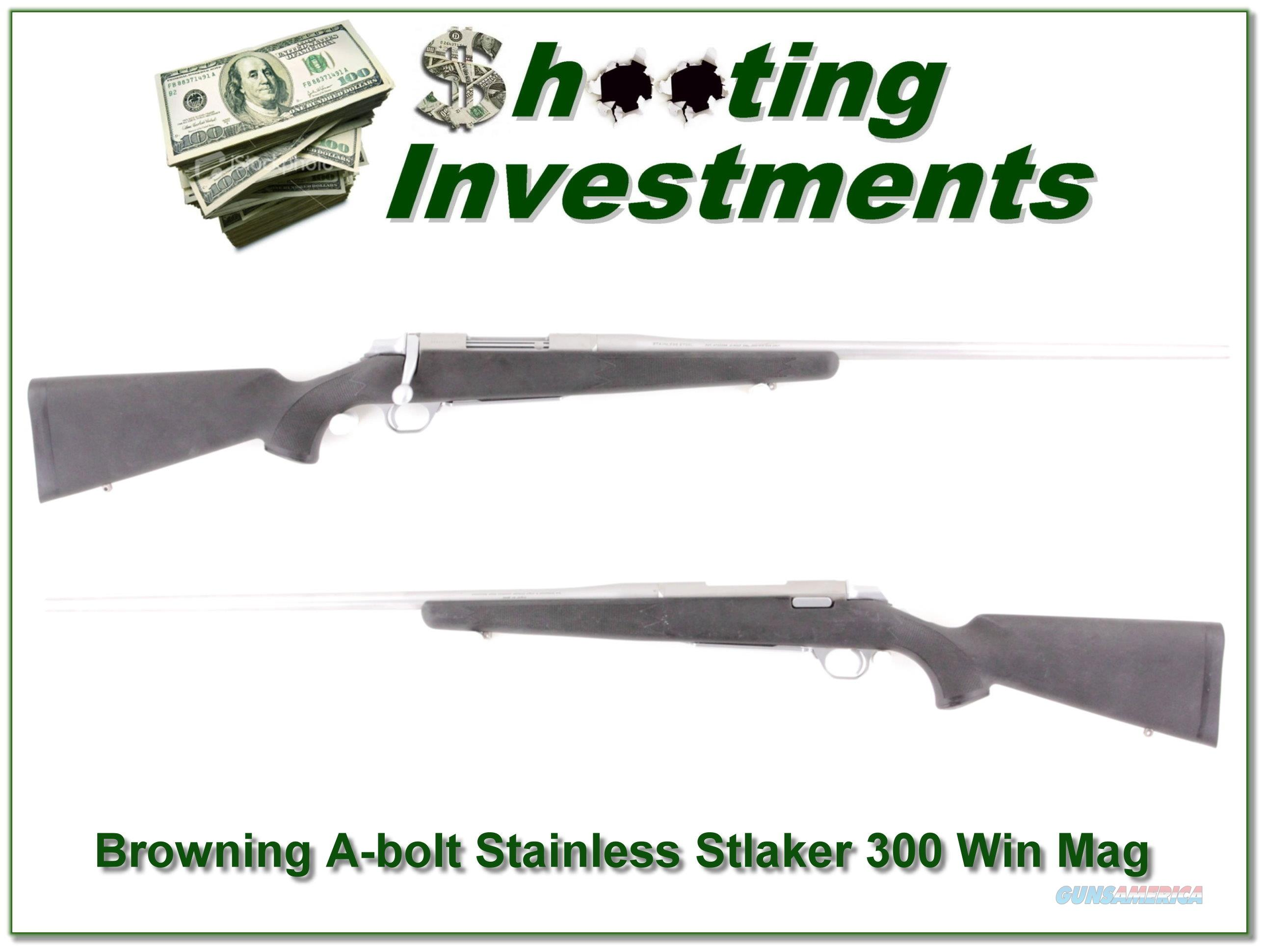 Browning A-bolt Stainless Stalker 300 Win Mag  Guns > Rifles > Browning Rifles > Bolt Action > Hunting > Stainless