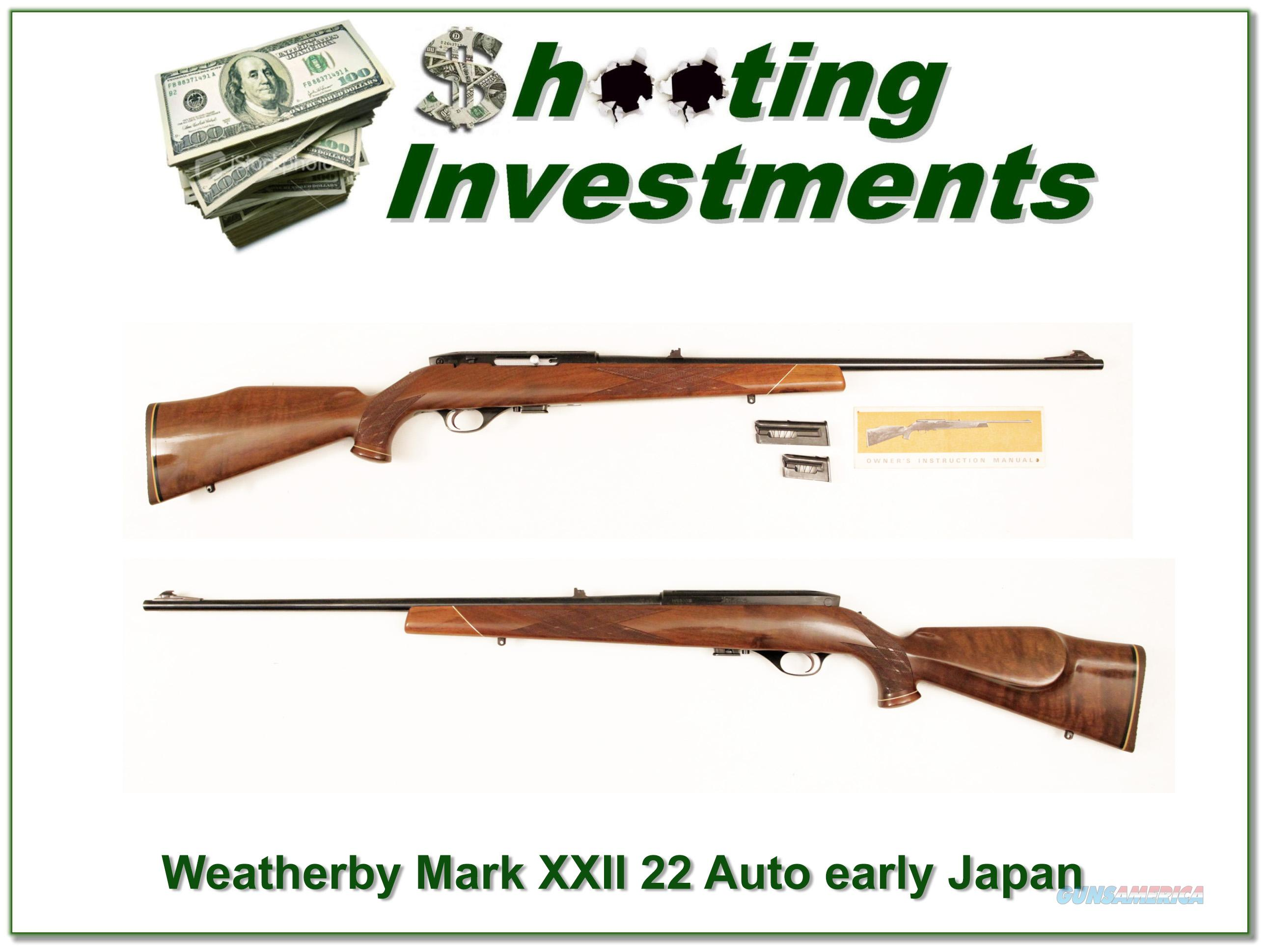 Weatherby Mark XXII Deluxe 22 Semi-auto  Guns > Rifles > Weatherby Rifles > Sporting