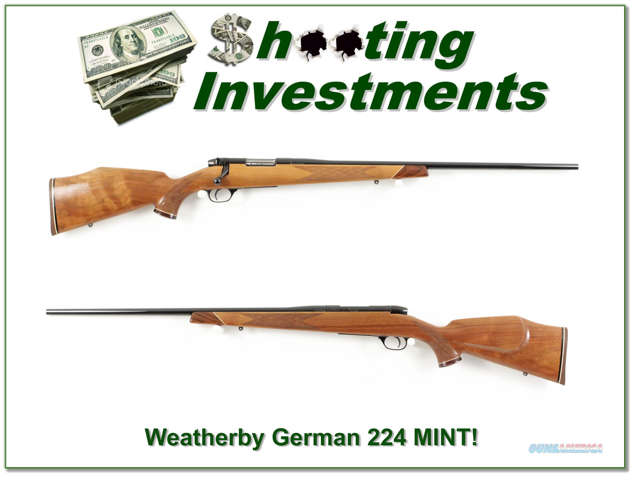 Weatherby Mark V Varmintmaster German 224 Collector!  Guns > Rifles > Weatherby Rifles > Sporting