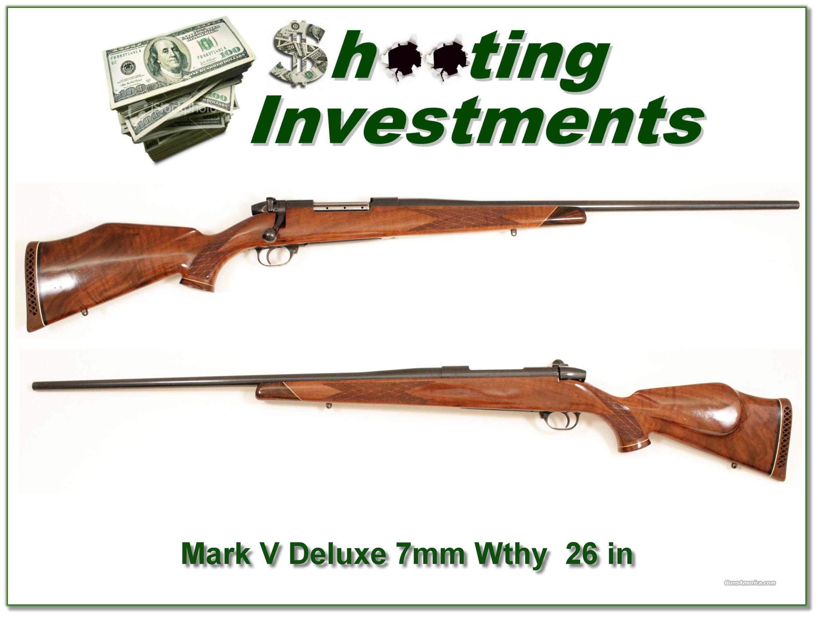 "Weatherby Mark V Deluxe 7mm Wthy Mag 26""  Guns > Rifles > Weatherby Rifles > Sporting"