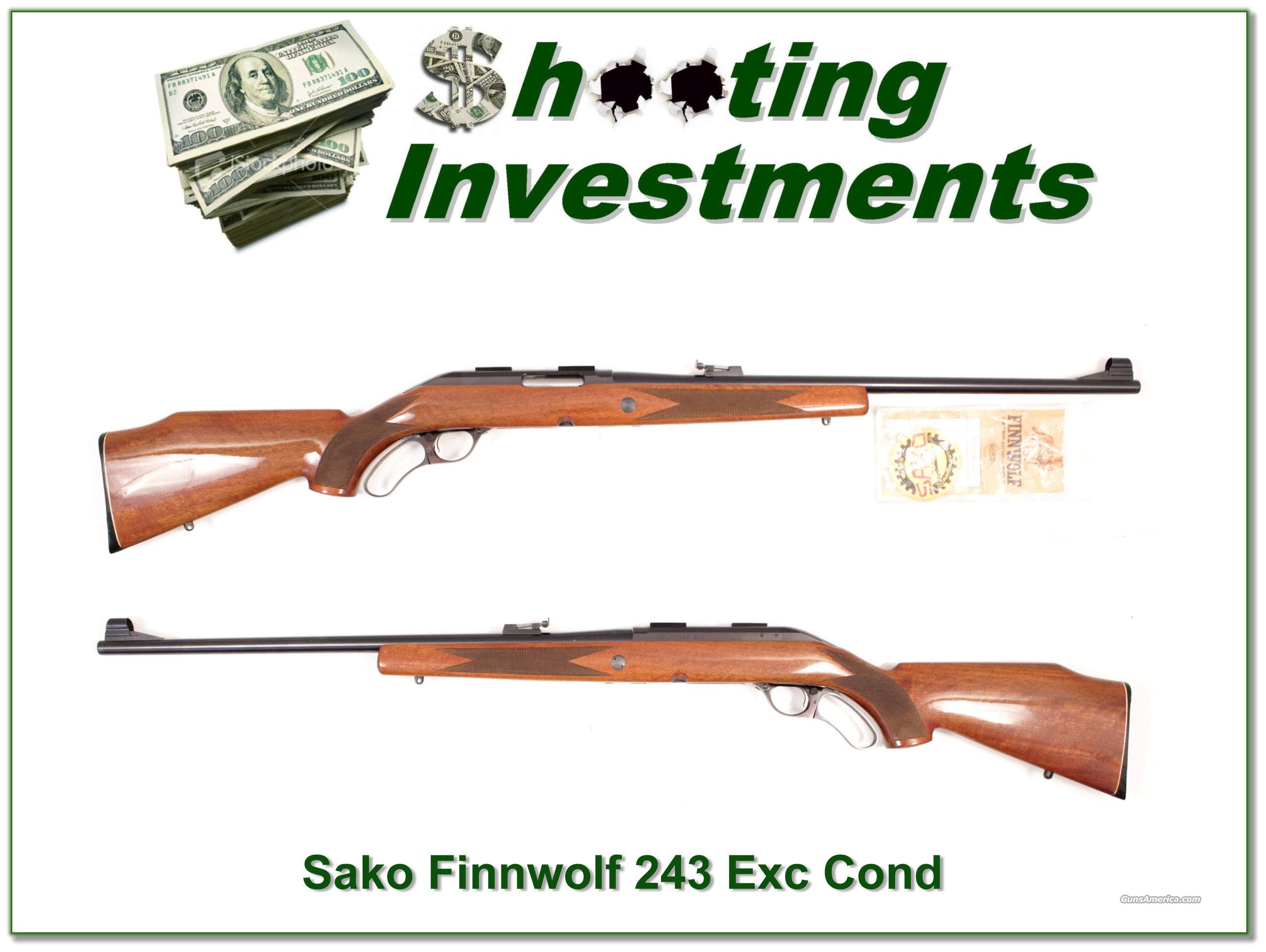Sako Finnwolf rare 243 near new!  Guns > Rifles > Sako Rifles > Other Bolt Action