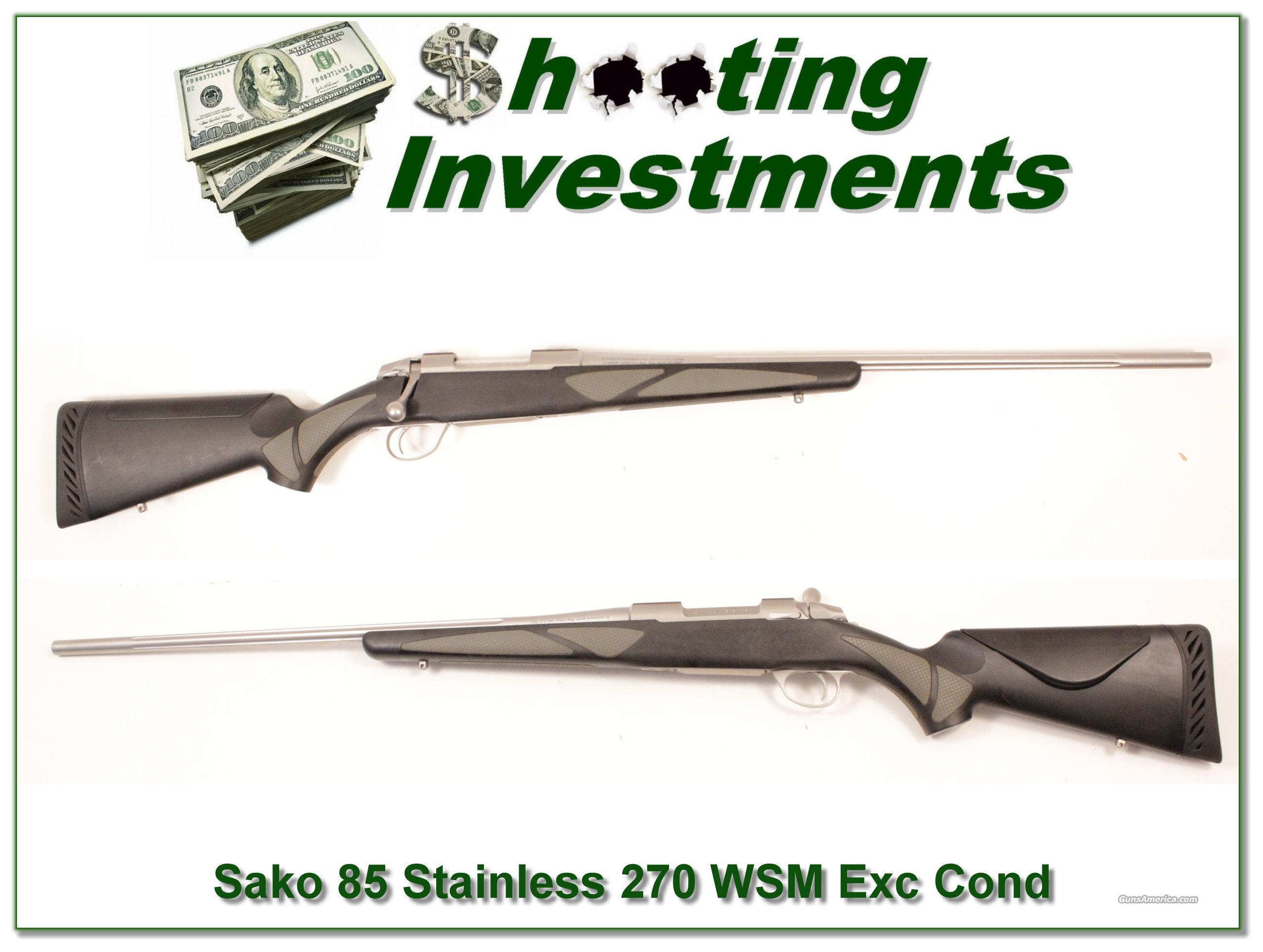 Sako 85 SM Stainless 270 WSM Exc Cond!  Guns > Rifles > Sako Rifles > Other Bolt Action