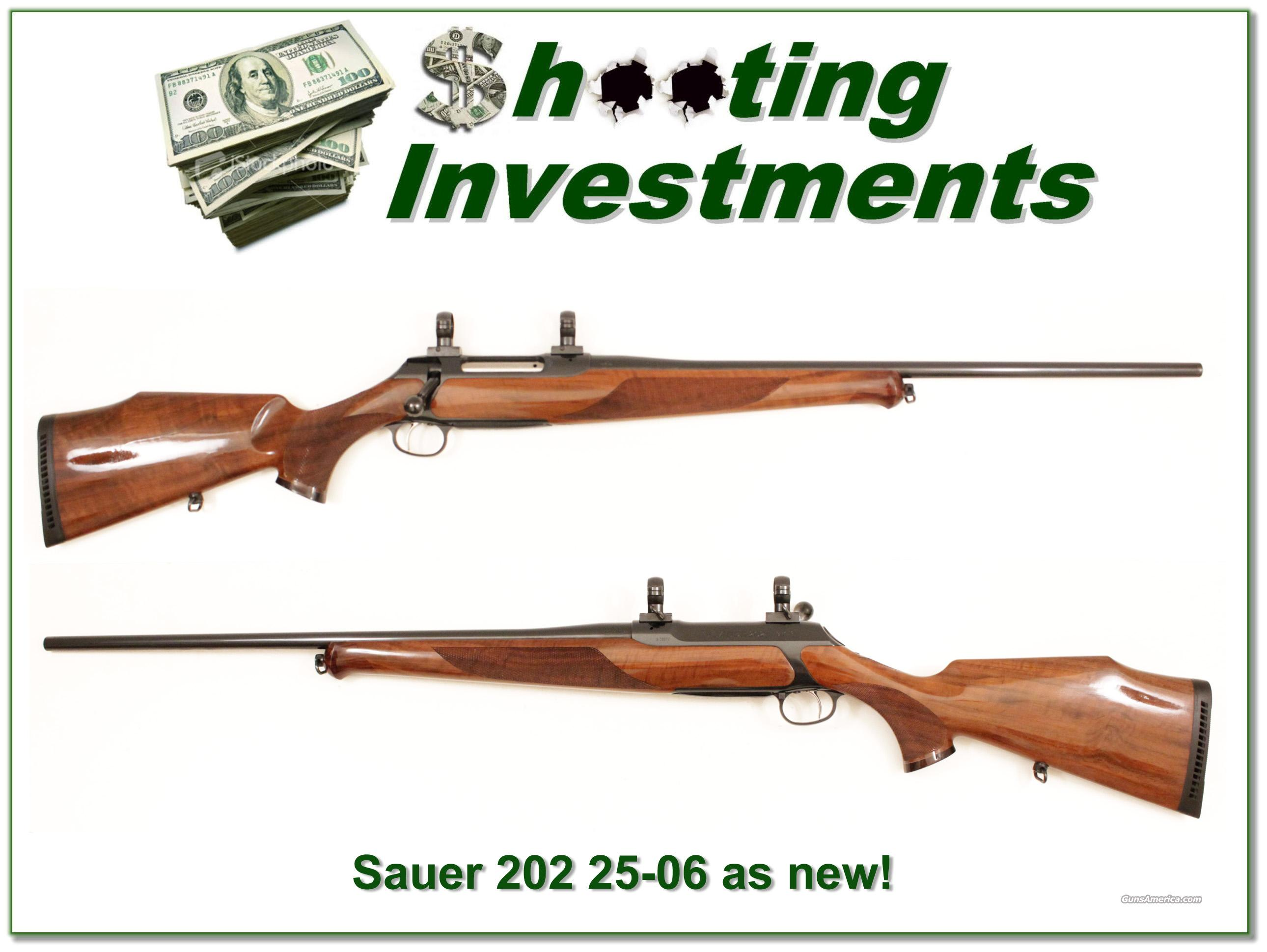 Sauer 202 Deluxe LUX 225-06 like new!  Guns > Rifles > Sig - Sauer/Sigarms Rifles