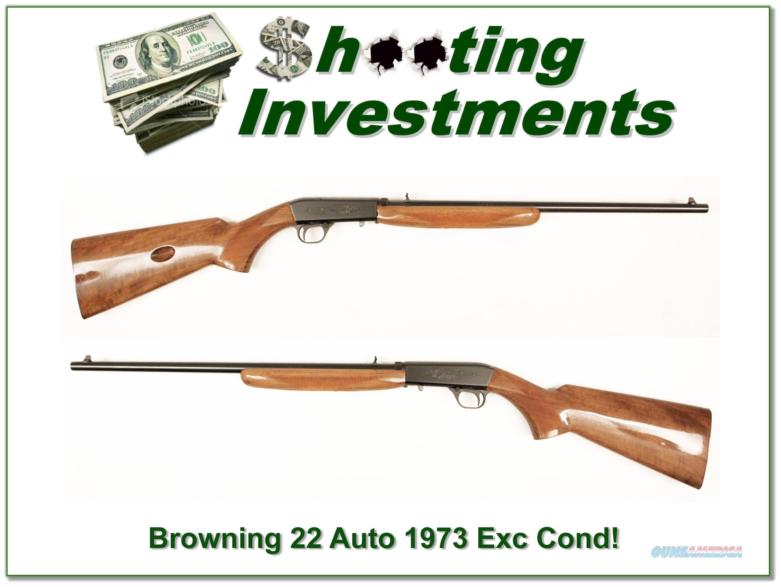 Browning 22 Auto 1973 made Exc Cond!   Guns > Rifles > Browning Rifles > Semi Auto > Hunting