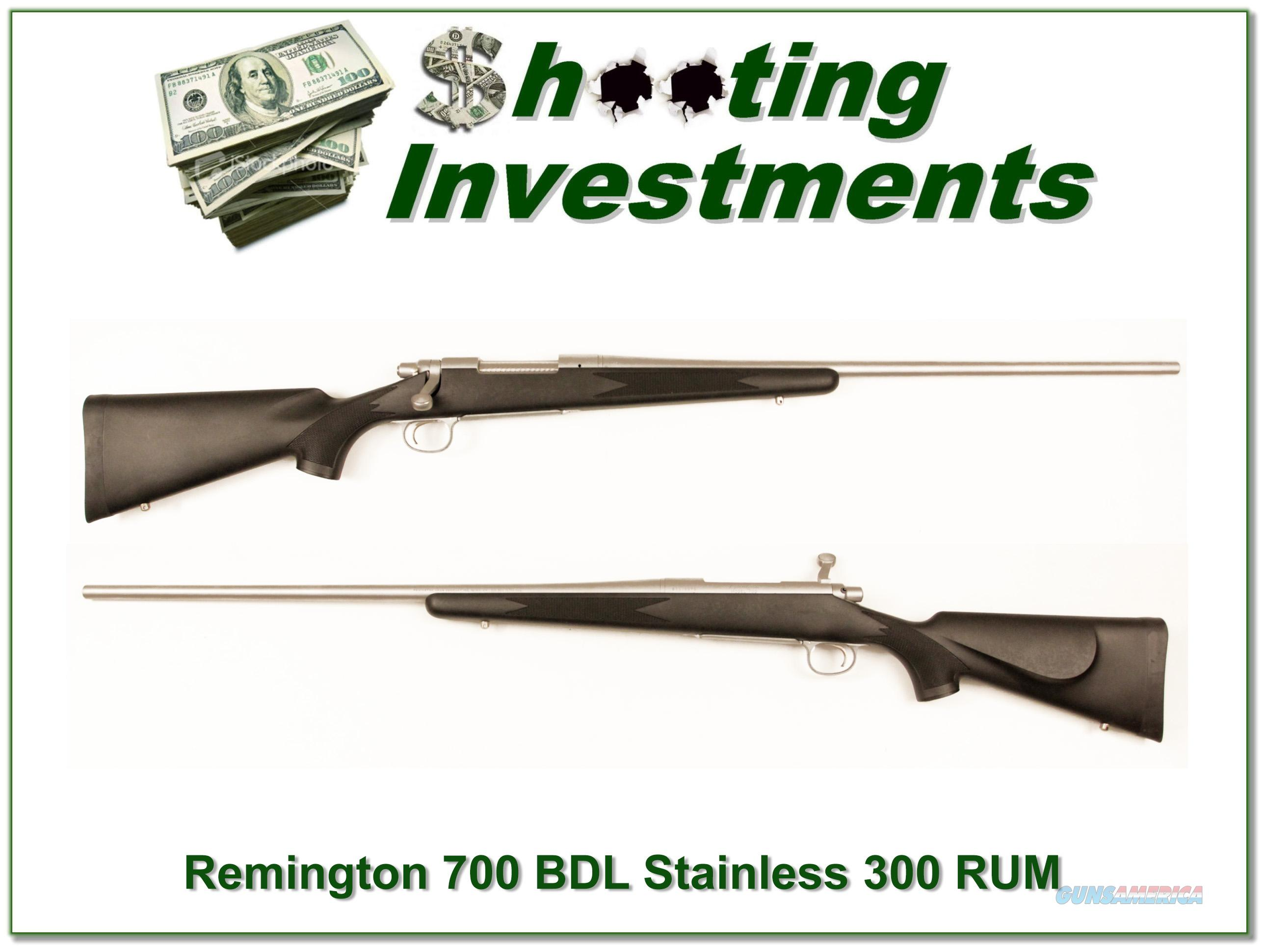 Remington 700 BDL Stainless 300 RUM Ultra Magnum as new  Guns > Rifles > Remington Rifles - Modern > Model 700 > Sporting