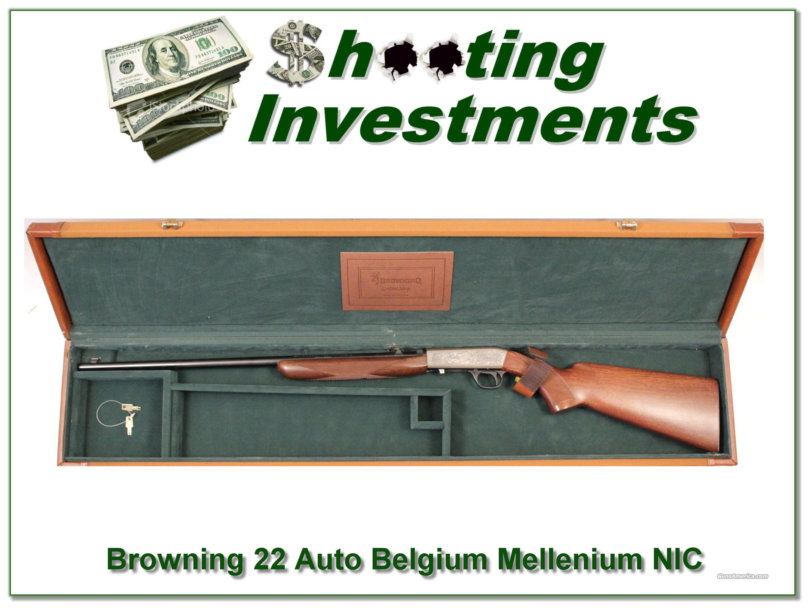 Browning 22 Auto Millennium Belgium New in Case!  Guns > Rifles > Browning Rifles > Semi Auto > Hunting