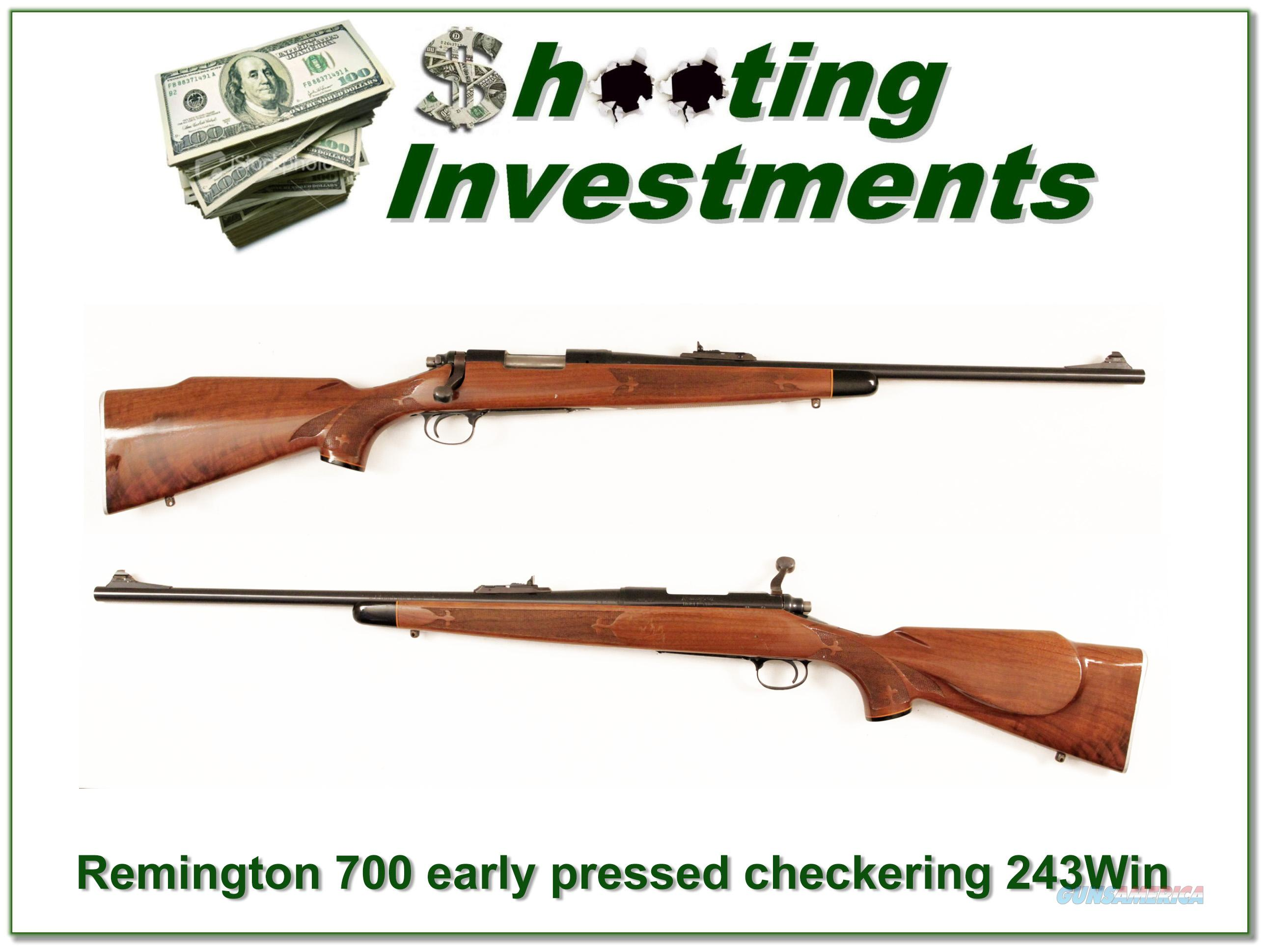 Remington 700 BDL early Pressed Checkering Metal Butt 243 Win  Guns > Rifles > Remington Rifles - Modern > Model 700 > Sporting