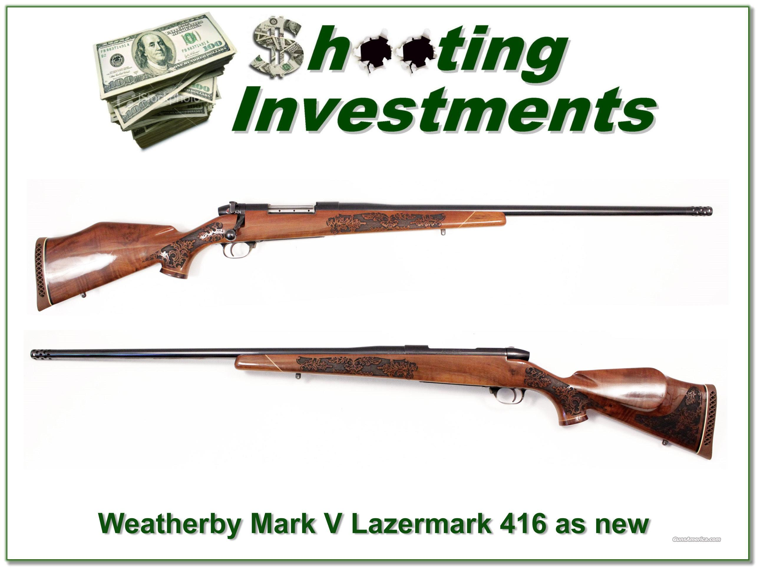 Weatherby Mark V Lazermark 416 5 Panel  Guns > Rifles > Weatherby Rifles > Sporting