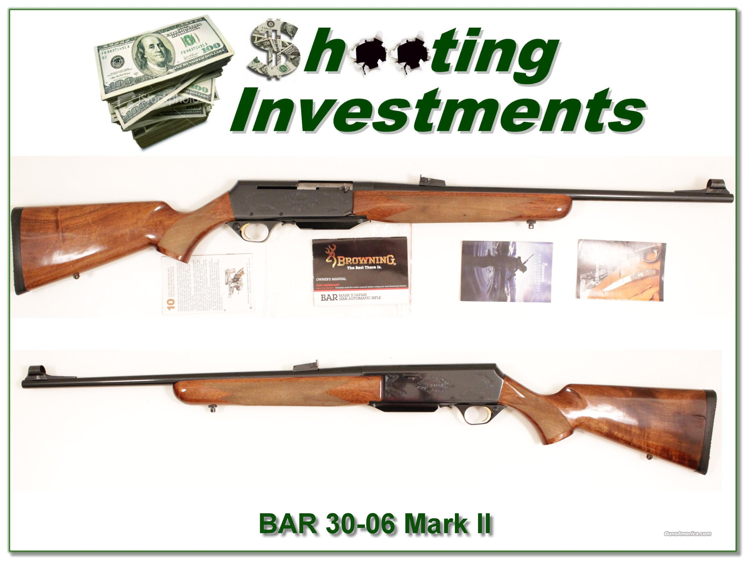 Browning BAR Safari Grade 30-06 Exc Cond!  Guns > Rifles > Browning Rifles > Semi Auto > Hunting