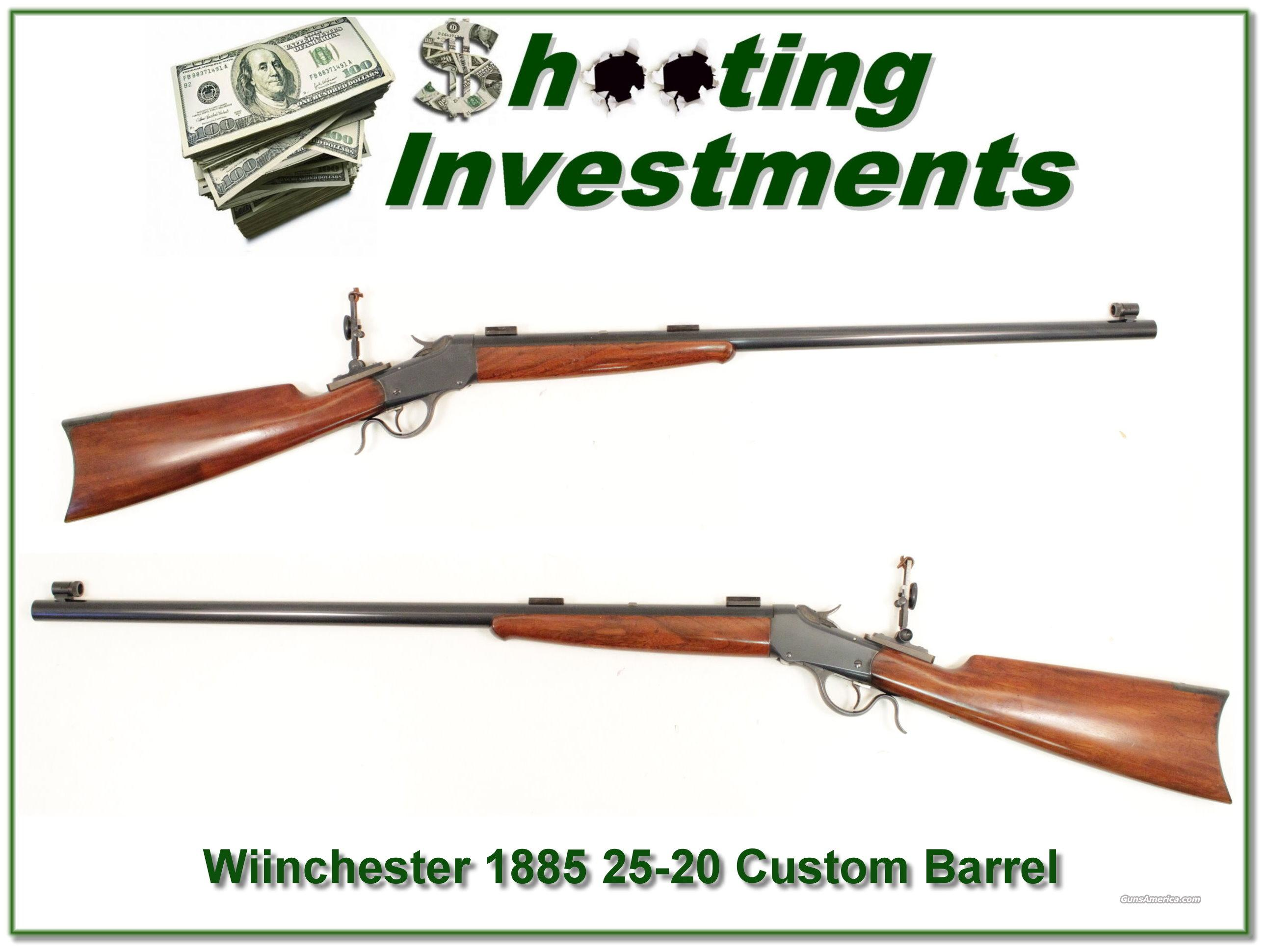 Winchester 1885 1892 made with custom 25-10 heavy barrel  Guns > Rifles > Winchester Rifles - Pre-1899 Bolt/Single Shot