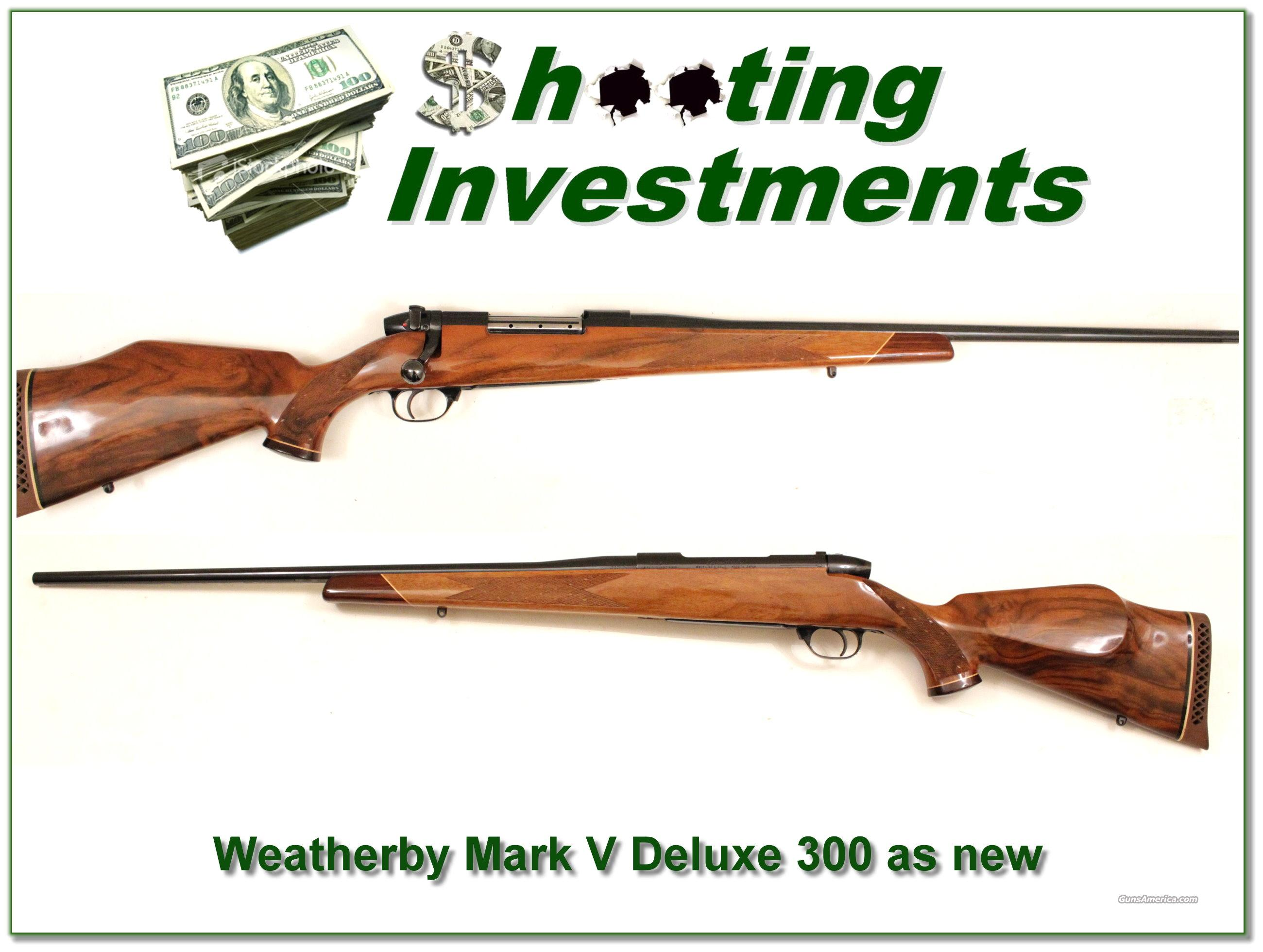 Weatherby Mark V Deluxe 300….near new!  Guns > Rifles > Weatherby Rifles > Sporting