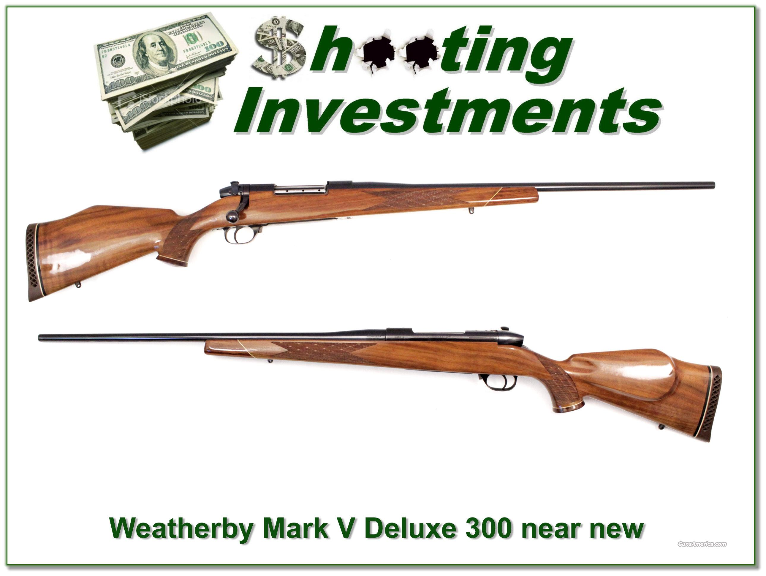 Weatherby Mark V Deluxe 300 Wthy Mag Exc Cond!  Guns > Rifles > Weatherby Rifles > Sporting