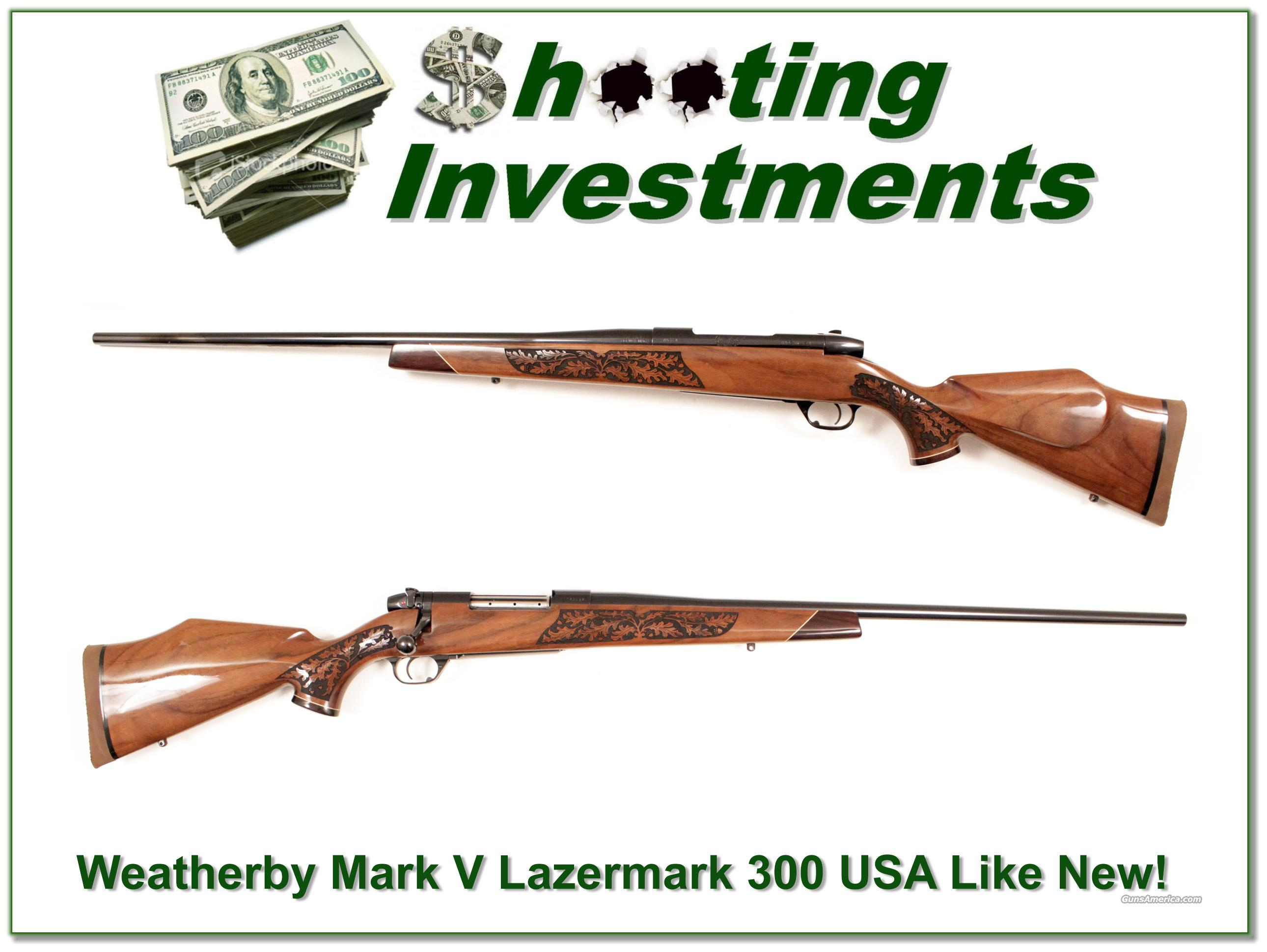 Weatherby Mark V USA made Lazermark 300 as new  Guns > Rifles > Weatherby Rifles > Sporting