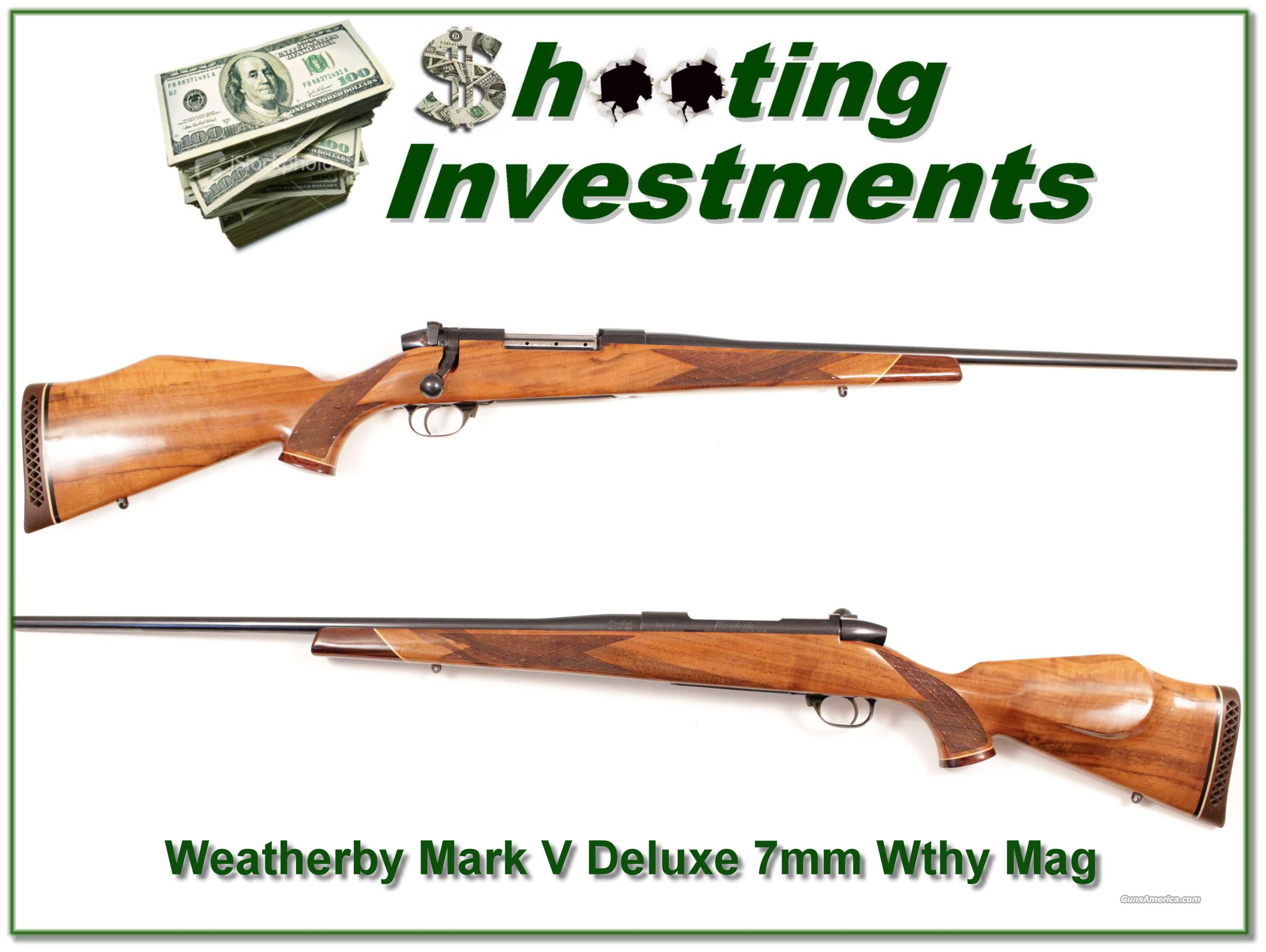 Weatherby Mark V Deluxe 7mm Weatherby Magnum  Guns > Rifles > Weatherby Rifles > Sporting