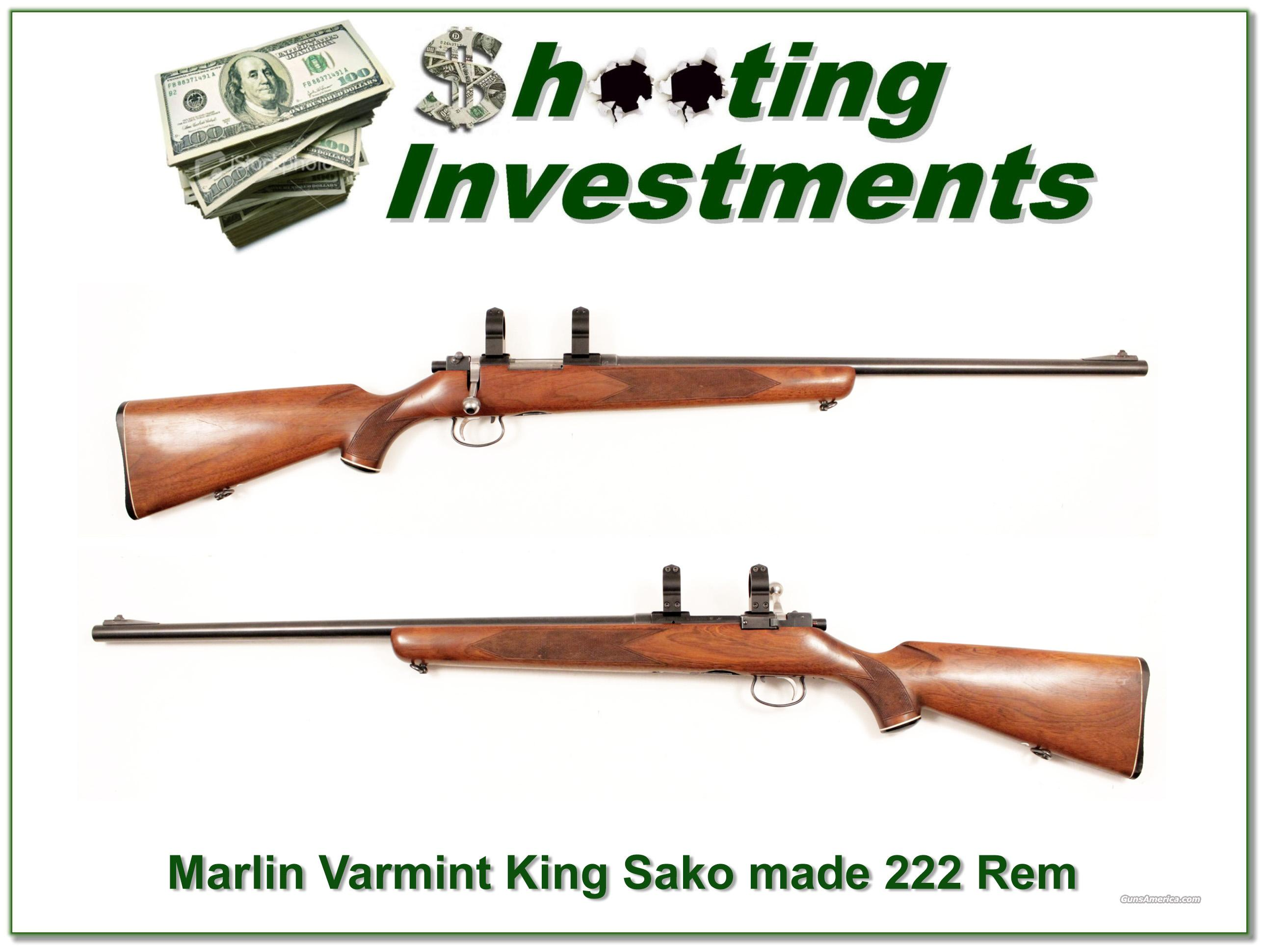 Marlin 322 Varmint King 222 Sako Riihimaki Exc Cond!  Guns > Rifles > Marlin Rifles > Modern > Bolt/Pump