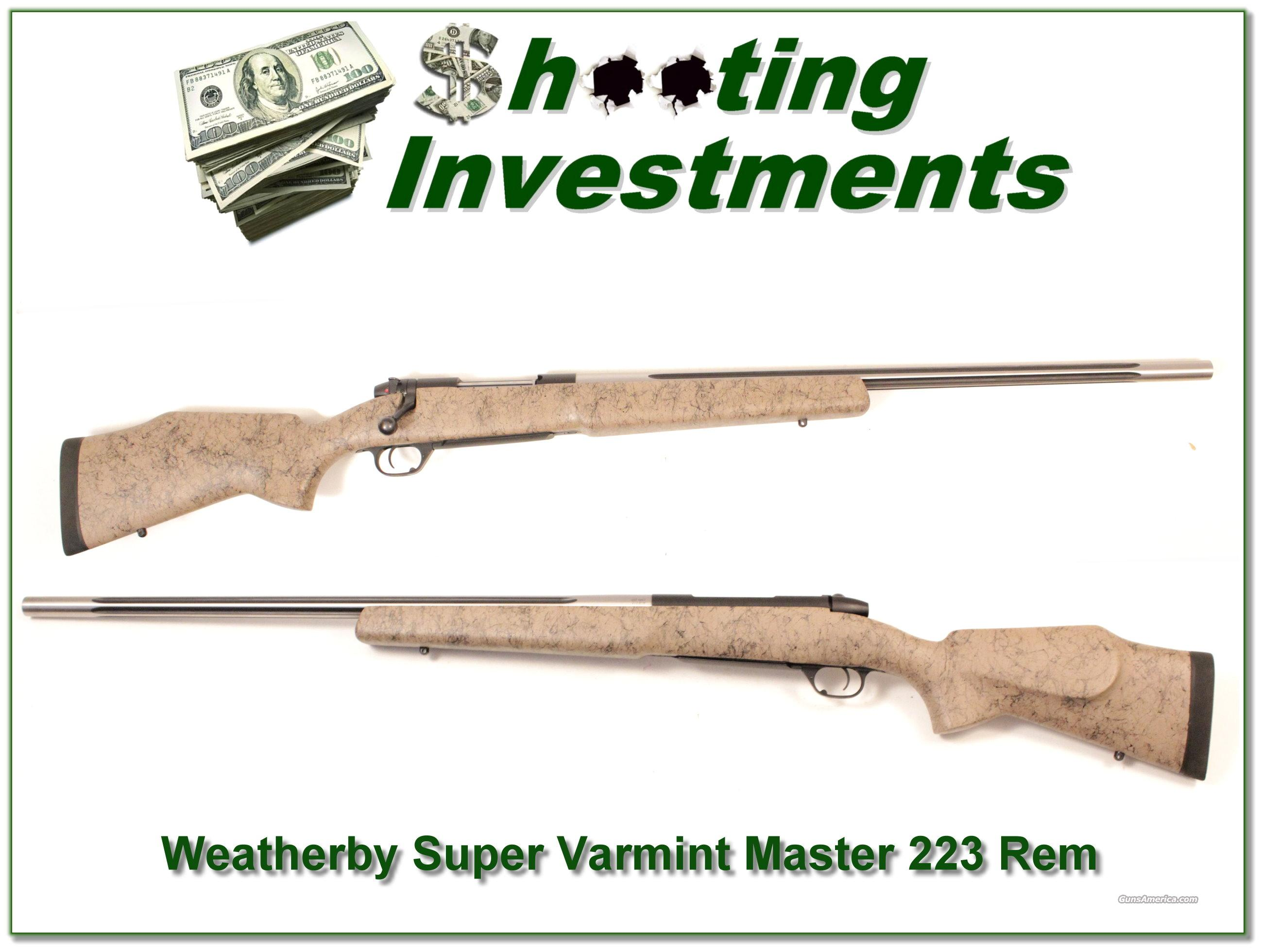 Weatherby Mark V Super Varmintmaster 223 Rem looks new!  Guns > Rifles > Weatherby Rifles > Sporting
