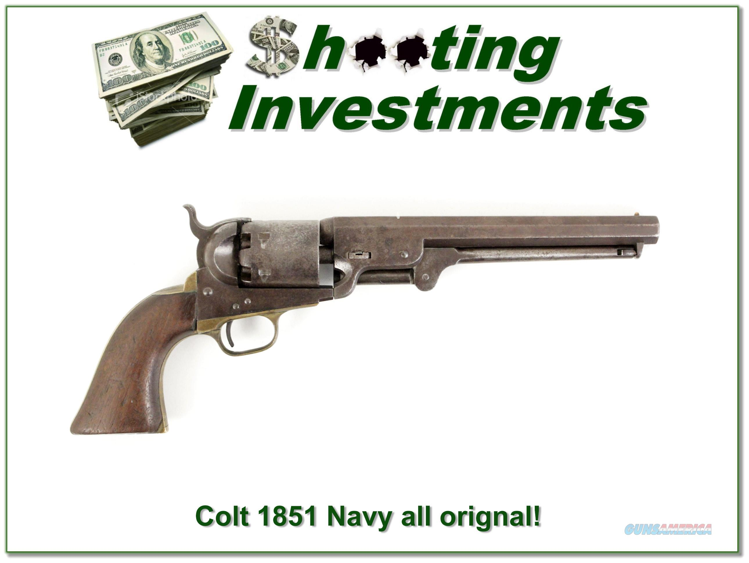 Colt 1851 Navy made in 1853 all original matching numbers!  Guns > Pistols > Colt Single Action Revolvers - 1st Gen.