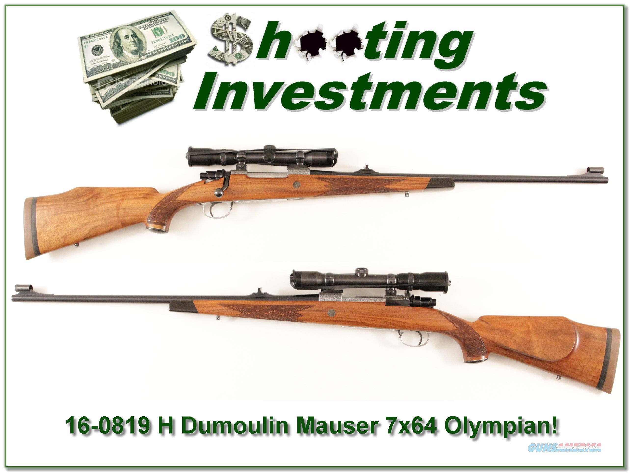 H Dumoulin High Grade FN Mauser 7x64 Browning Olympian engraved!  Guns > Rifles > FNH - Fabrique Nationale (FN) Rifles > Bolt action > Hunting
