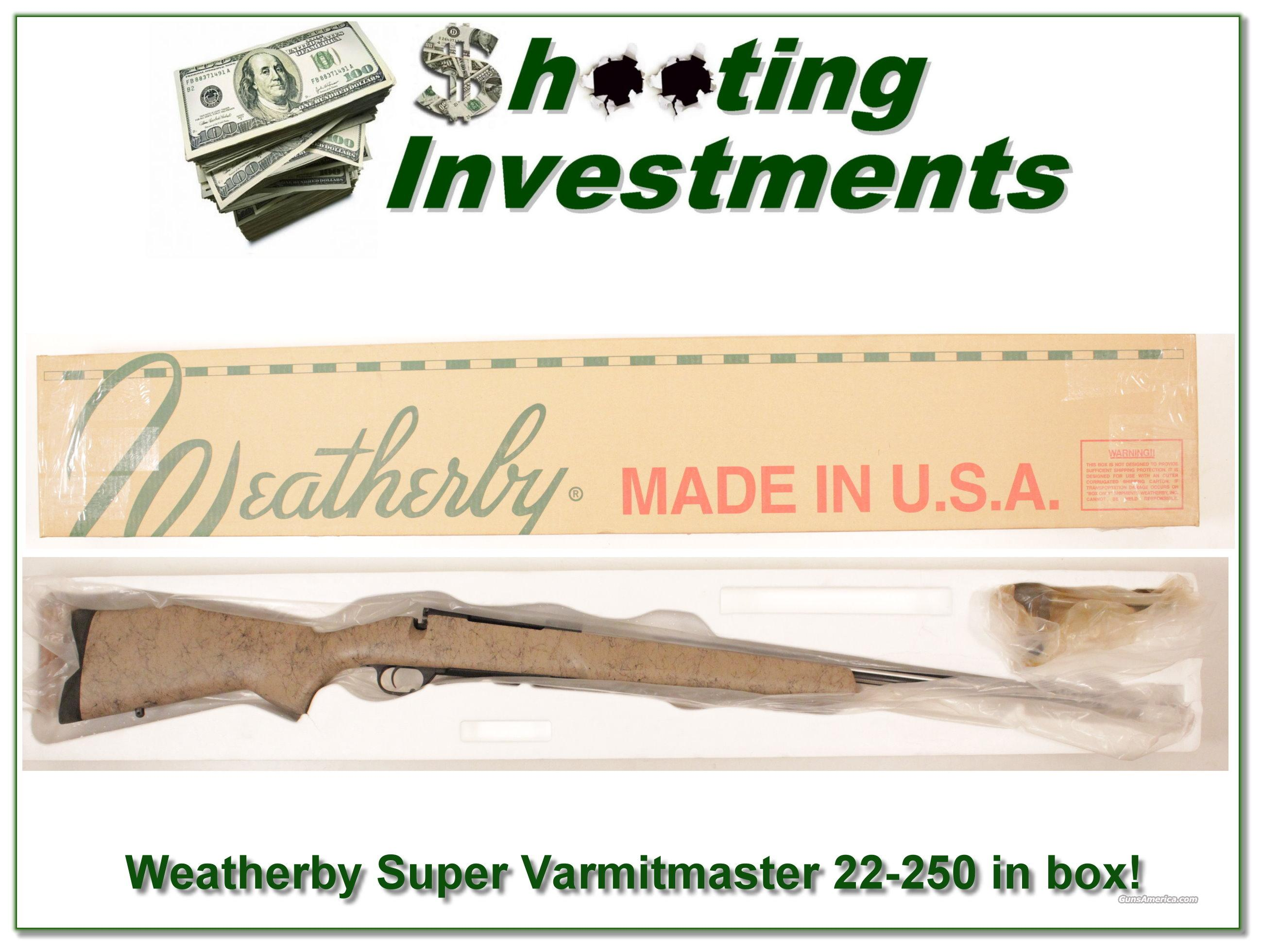 Weatherby Mark V Super Varmintmaster 22-250 in box!  Guns > Rifles > Weatherby Rifles > Sporting