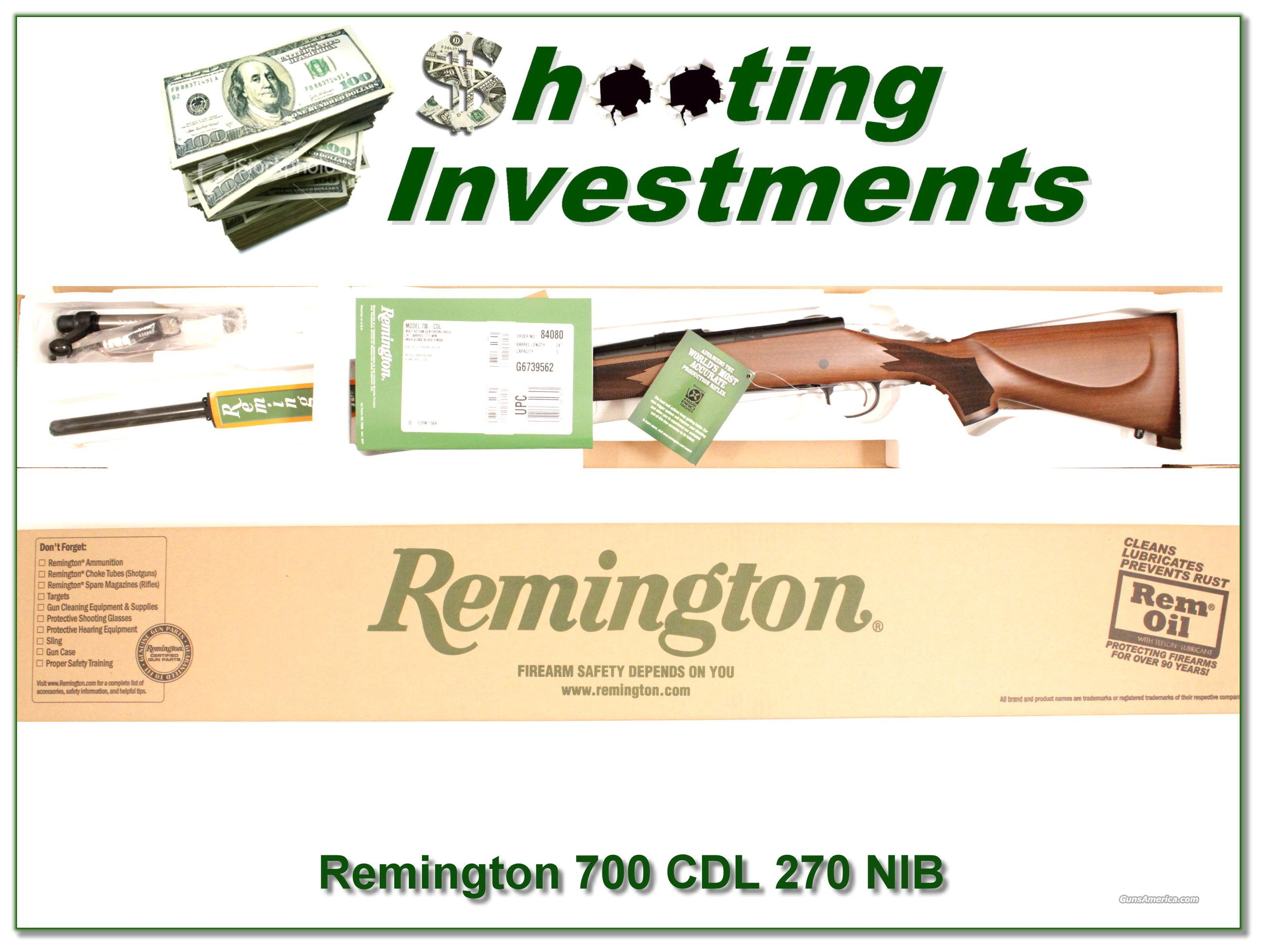 Remington 700 CDL 270 Win Factory NEW!  Guns > Rifles > Remington Rifles - Modern > Model 700 > Sporting