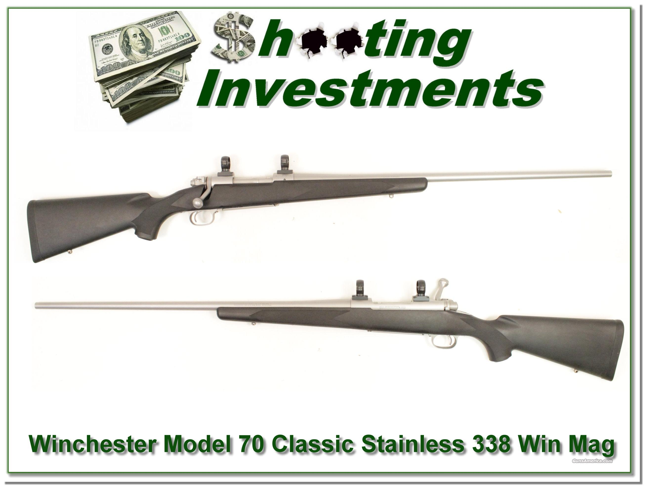 Winchester Model 70 Classic Stainless 338 Win Mag  Guns > Rifles > Winchester Rifles - Modern Bolt/Auto/Single > Model 70 > Post-64
