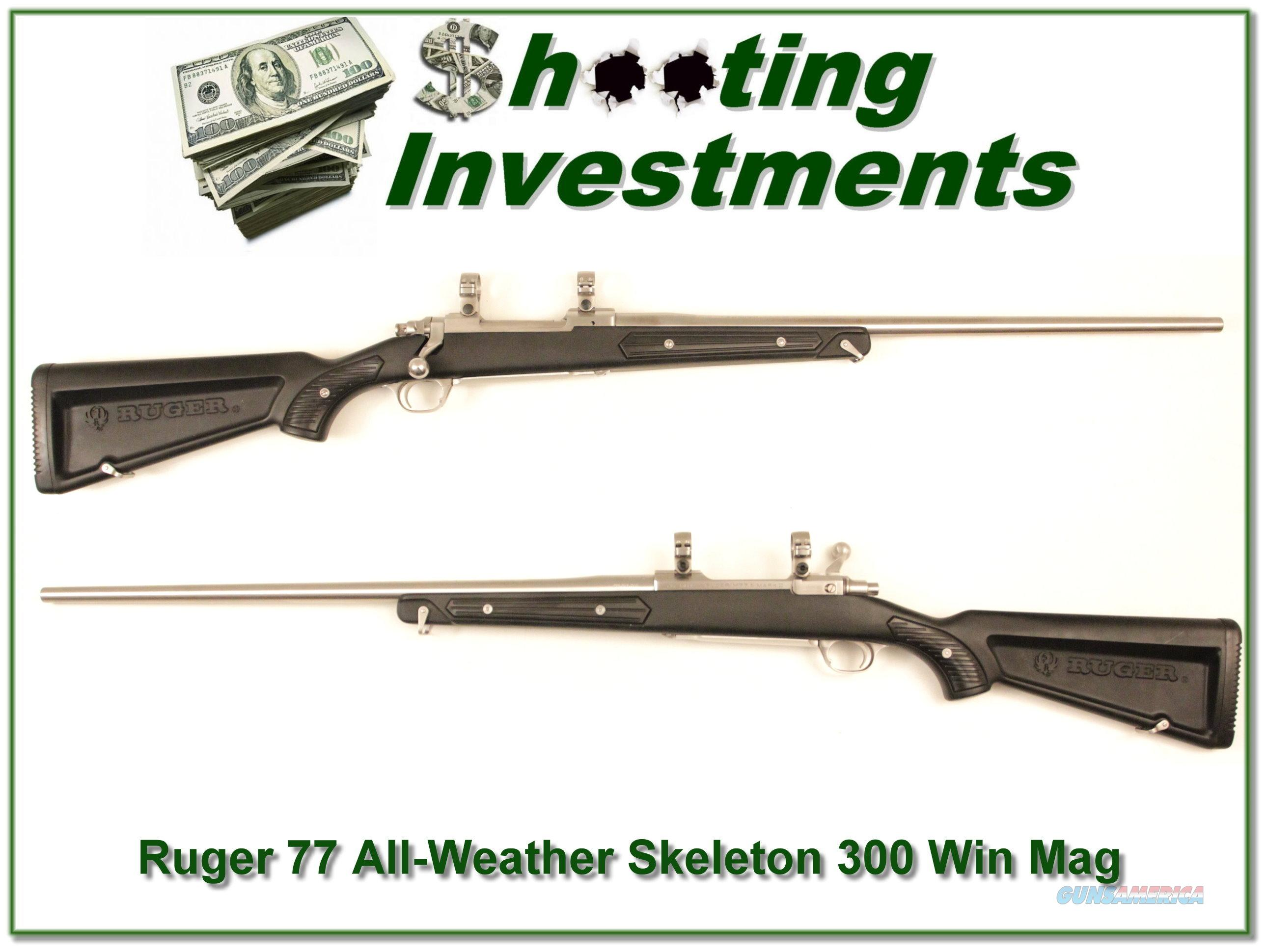 "Ruger Mark II Stainless All-weather ""Skeleton"" 300 Exc Cond  Guns > Rifles > Ruger Rifles > Model 77"
