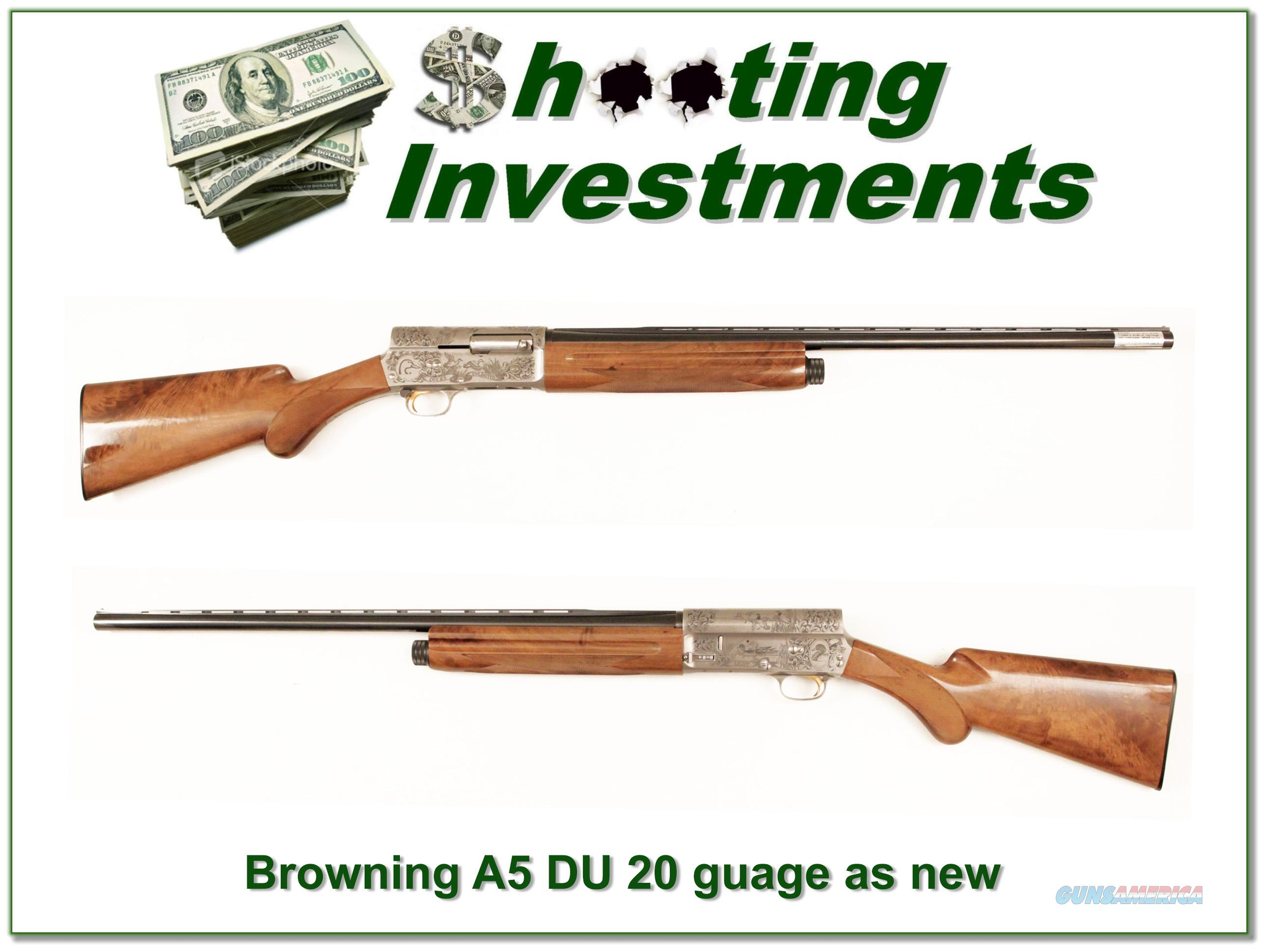Browning A5 Light 20 Ducks Unlimited 26in Invector New!  Guns > Shotguns > Browning Shotguns > Autoloaders > Hunting