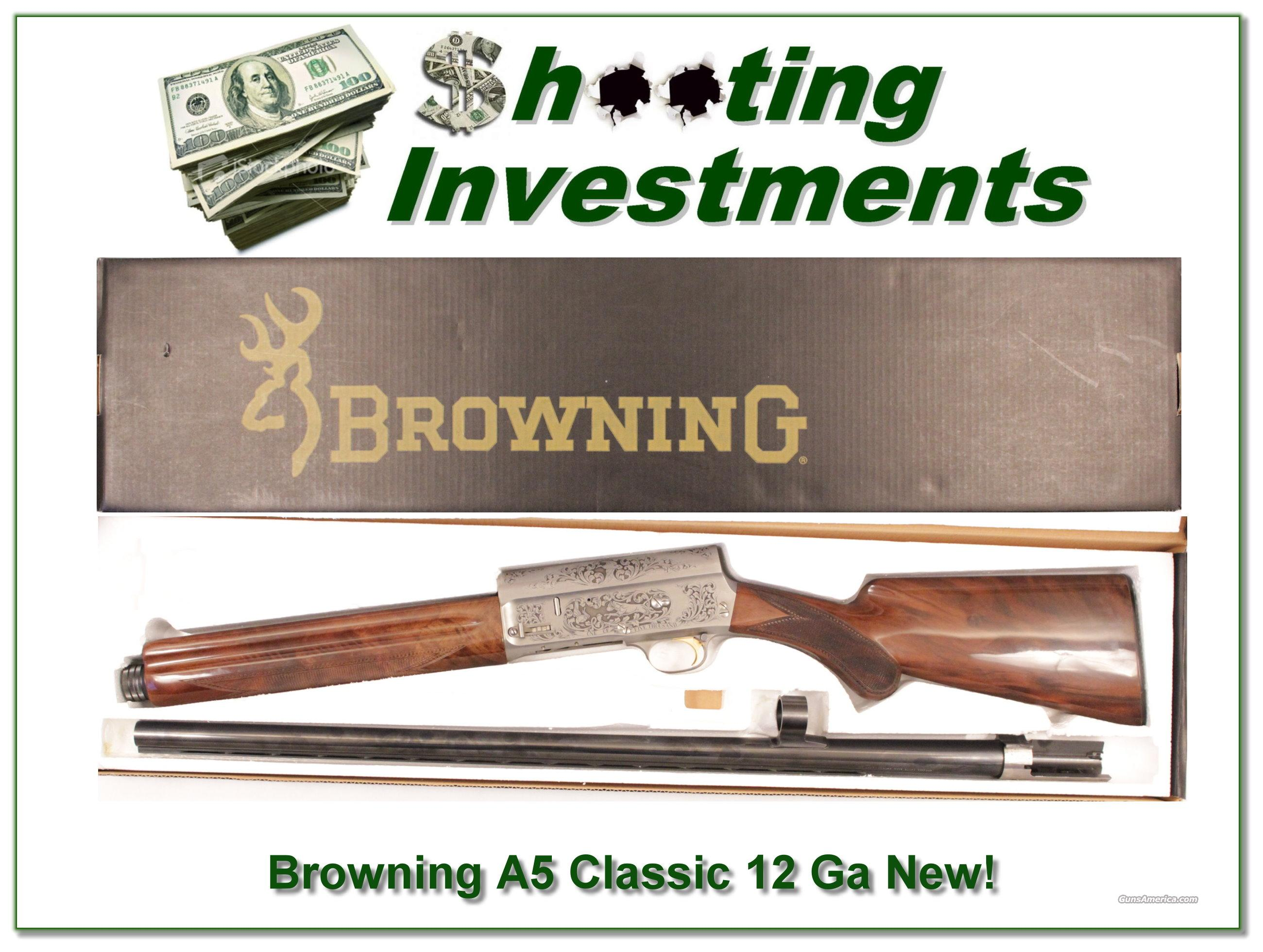 Browning A5 Classic 12 gauge Belgium engraved as new!  Guns > Shotguns > Browning Shotguns > Autoloaders > Hunting