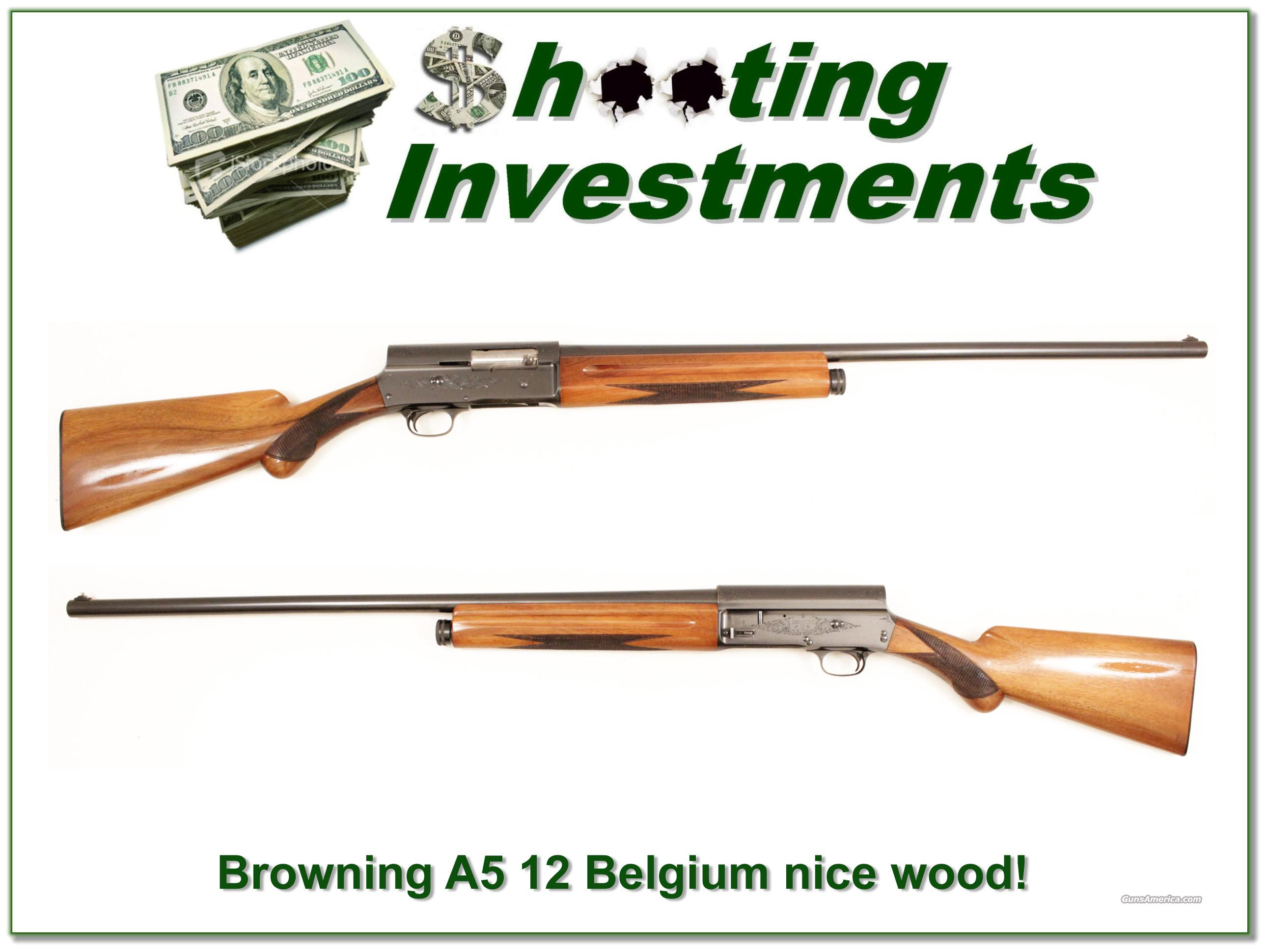 Browning A5 12 gauge 56 Belgium blond wood  Guns > Shotguns > Browning Shotguns > Autoloaders > Hunting