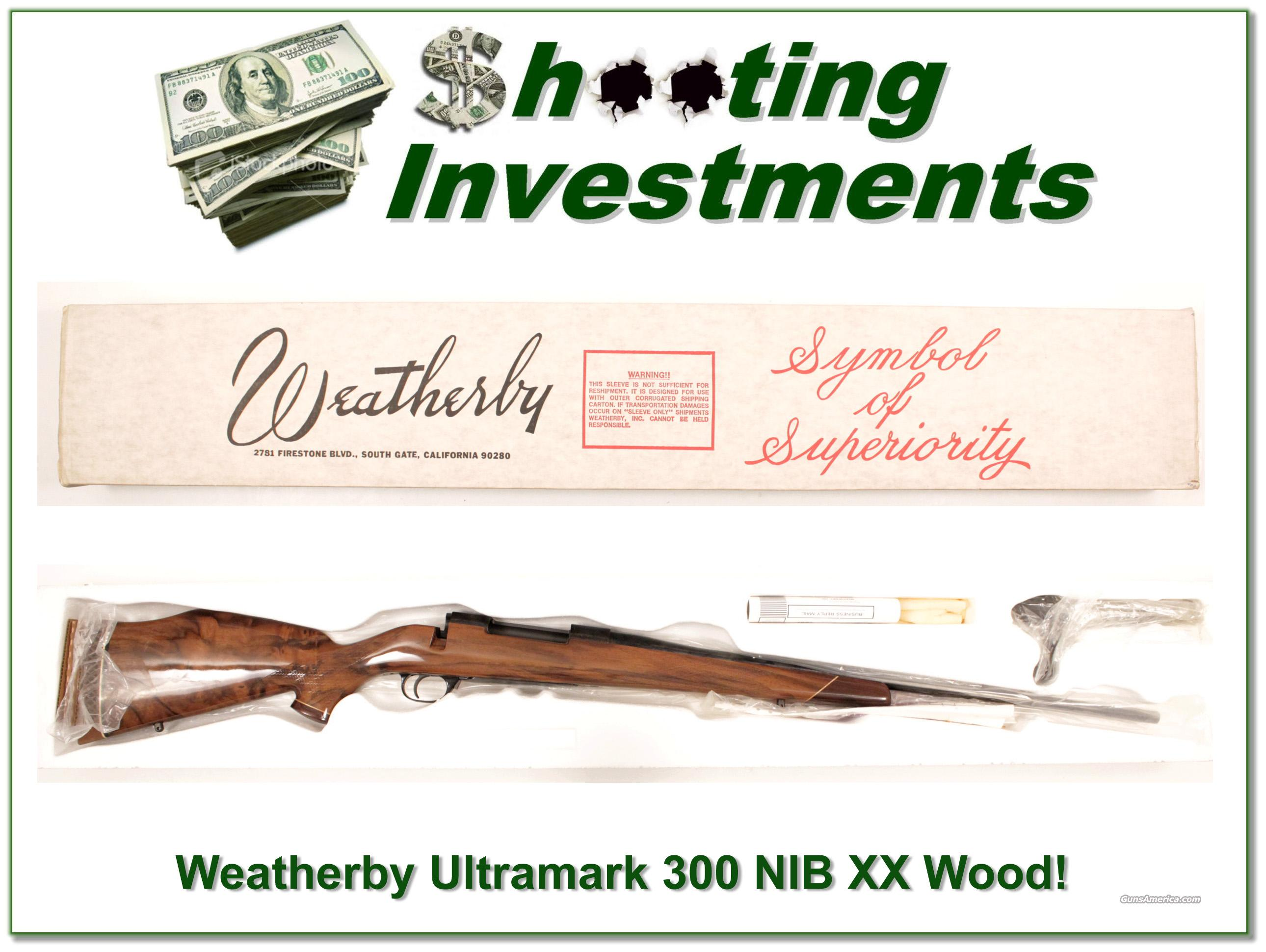 Weatherby vintage Ultramark 300 NIB and PERFECT  Guns > Rifles > Weatherby Rifles > Sporting