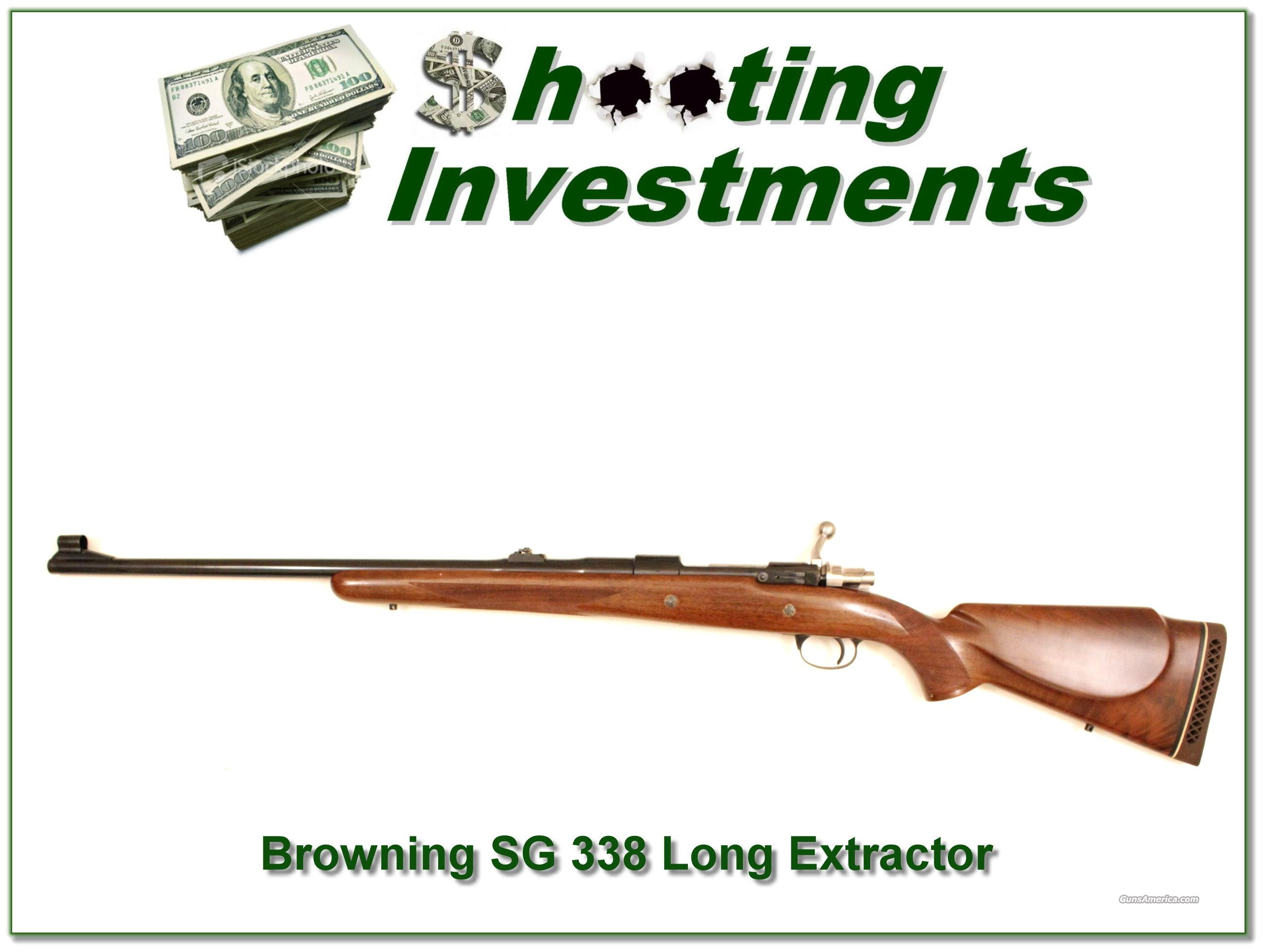 Browning Belgium Safari Grade 338 Long Extractor as new  Guns > Rifles > Browning Rifles > Bolt Action > Hunting > Blue
