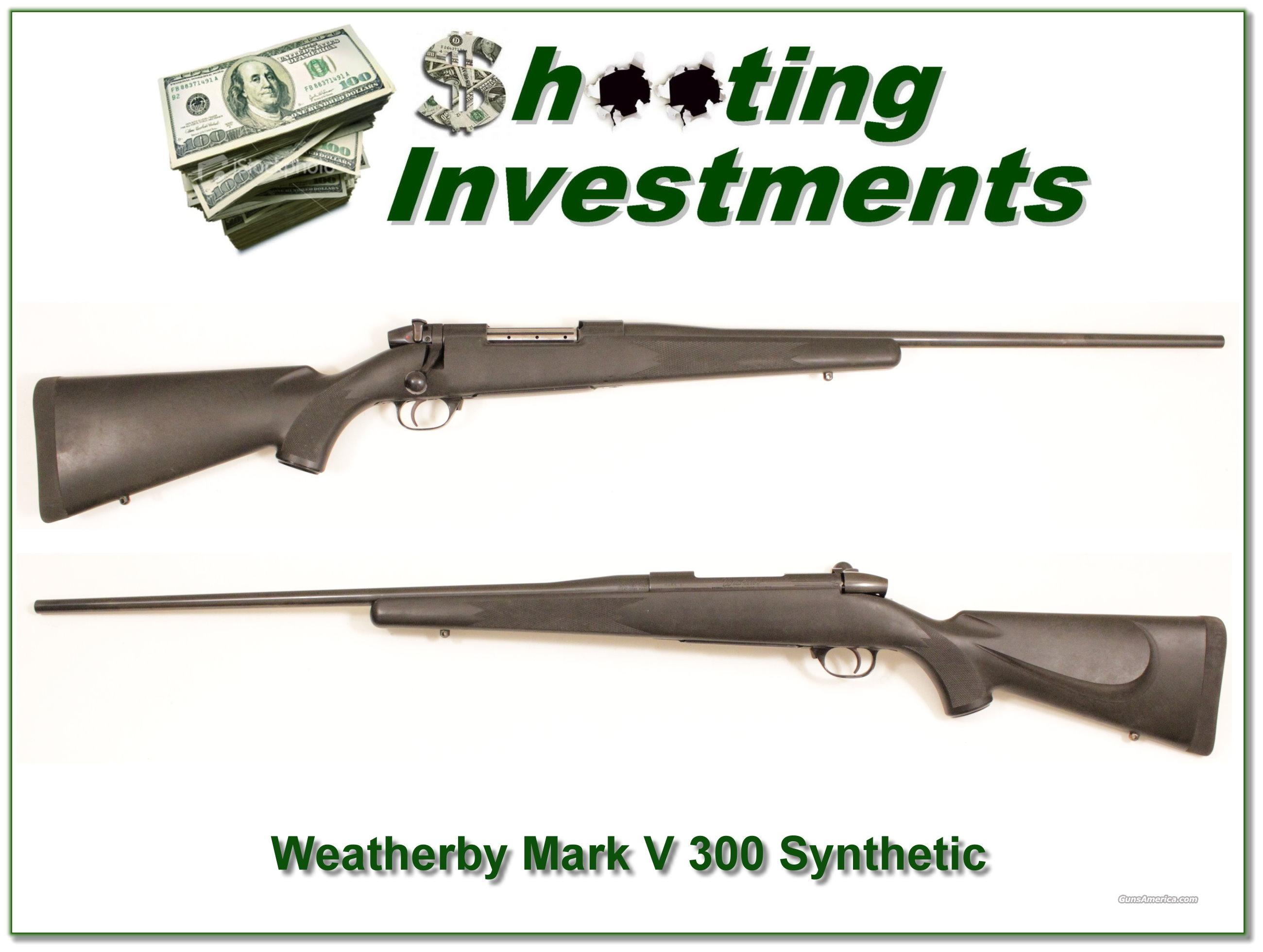 Weatherby Mark V 300 Synthetic  Guns > Rifles > Weatherby Rifles > Sporting