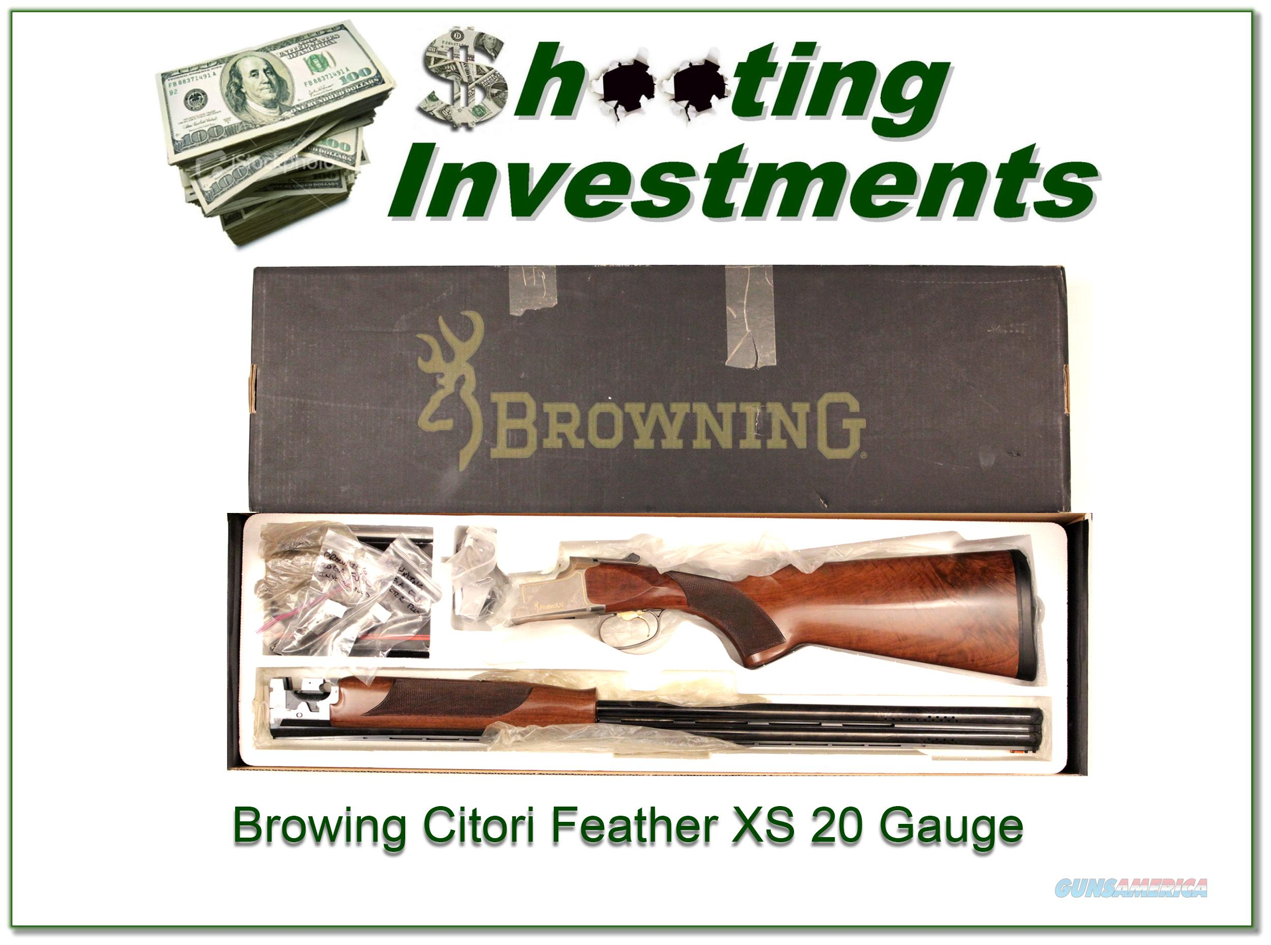 Browning Citori Feather XS 20 gauge 30in ported barrels!  Guns > Shotguns > Browning Shotguns > Over Unders > Citori > Hunting