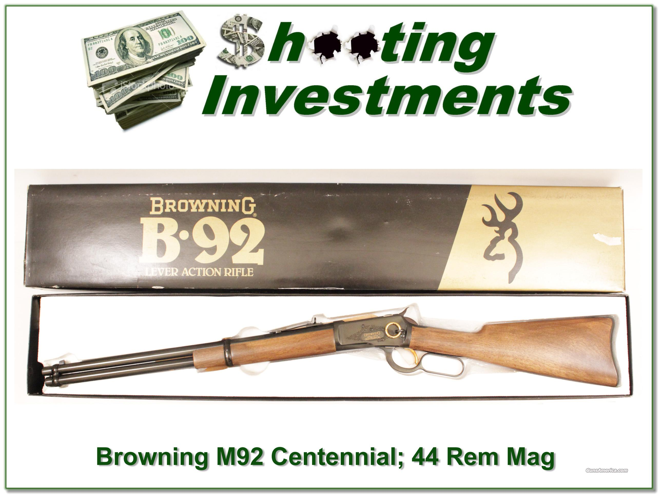 Browning Model 92 Centennial 44 rem mag NIB  Guns > Rifles > Browning Rifles > Lever Action