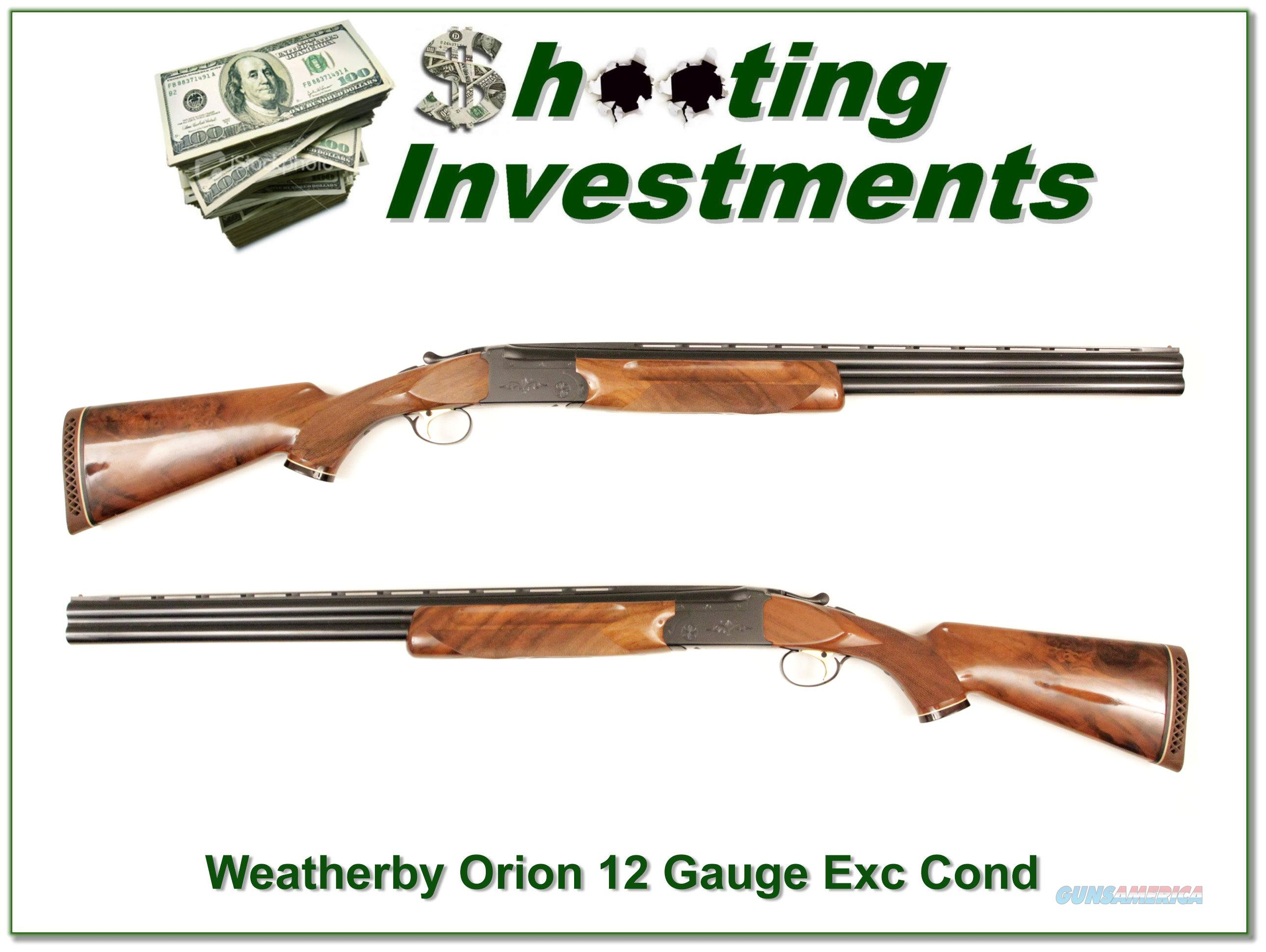 Weatherby Orion 12 Gauge 26in Nice Wood!  Guns > Shotguns > Weatherby Shotguns > Hunting > O/U