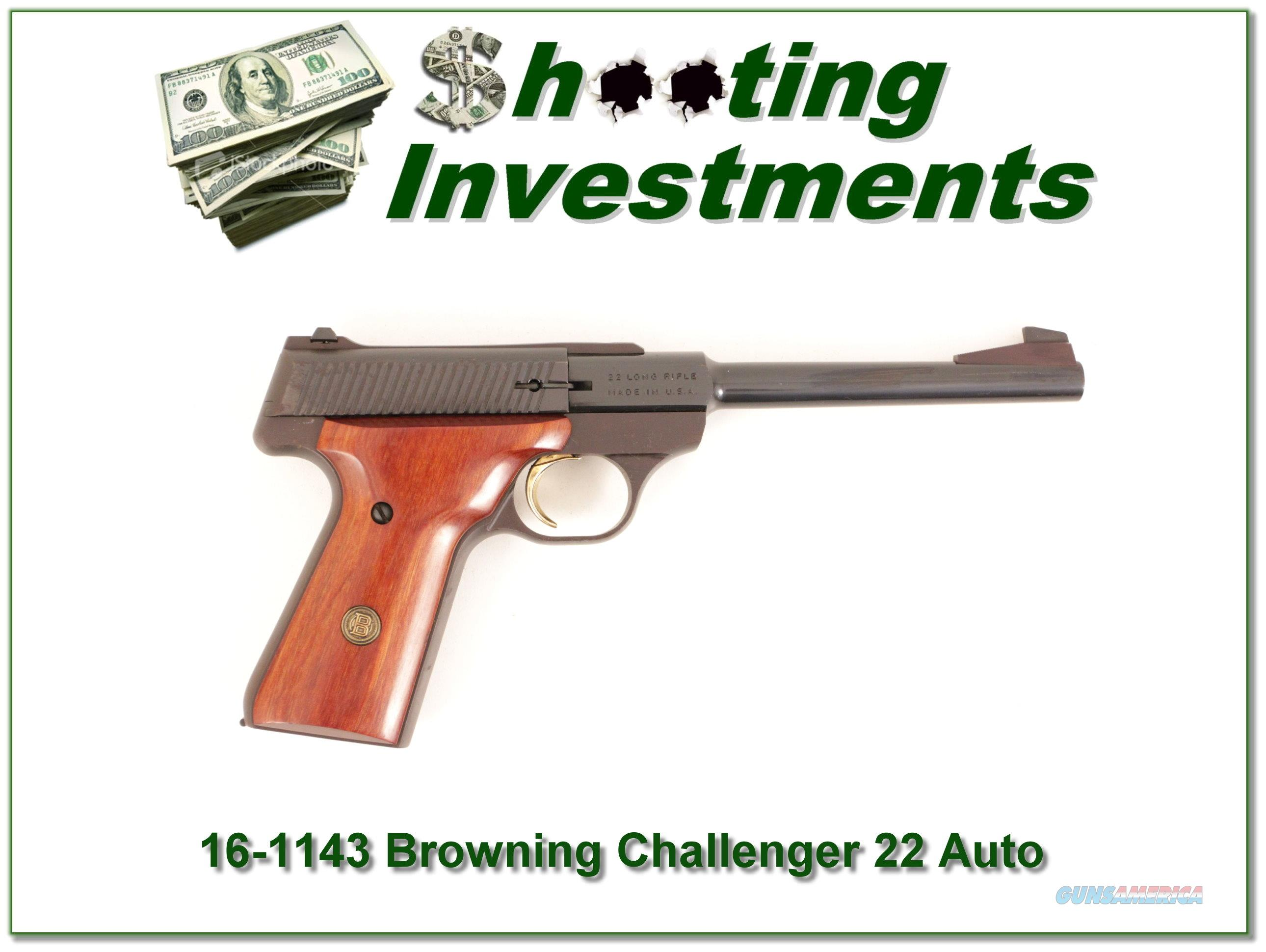 Browning Challenger 22 Auto USA Made Exc Cond  Guns > Pistols > Browning Pistols > Other Autos