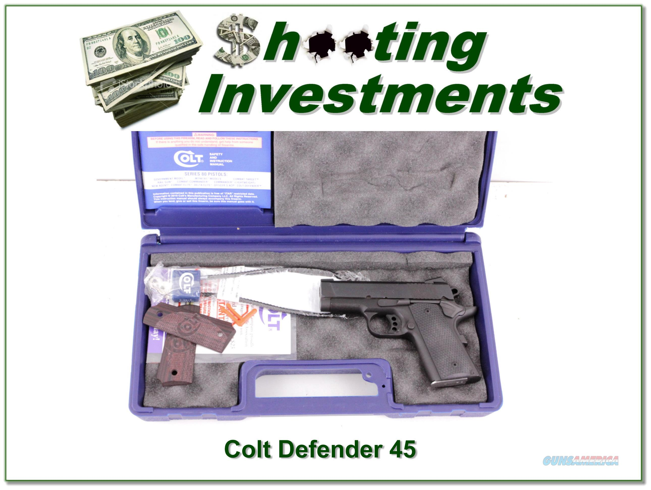 Colt Defender Lightweight 45 ACP in box  Guns > Pistols > Colt Automatic Pistols (1911 & Var)