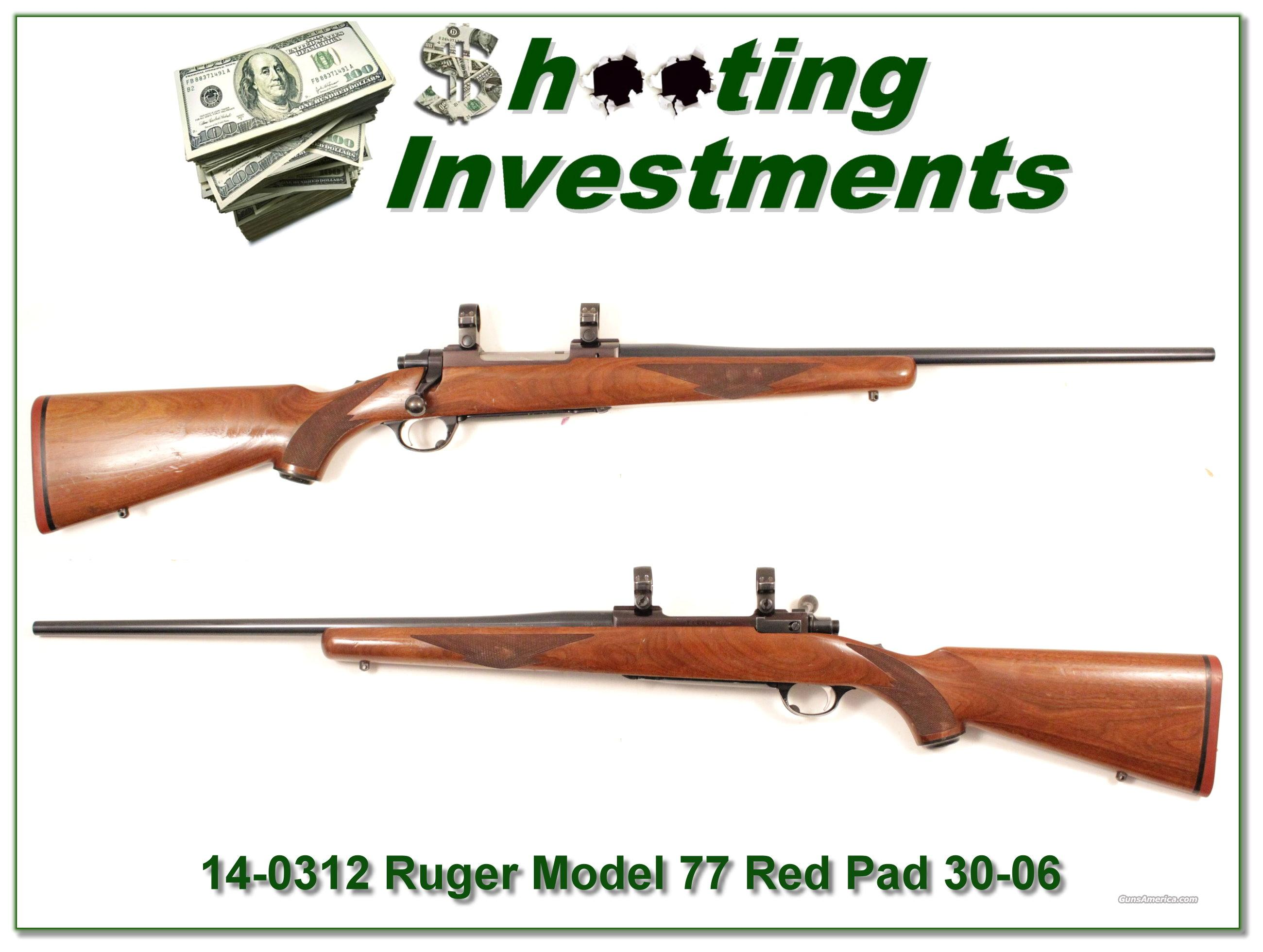 Ruger Model 77 30-06 Tang Safety Red Pad!  Guns > Rifles > Ruger Rifles > Model 77