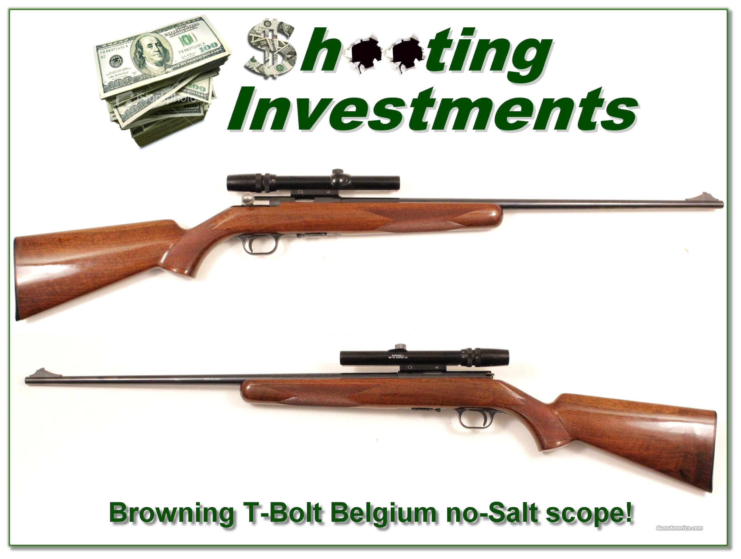 Browning T-Bolt Belgium Deluxe no-Salt and scope  Guns > Rifles > Browning Rifles > Bolt Action > Hunting > Blue