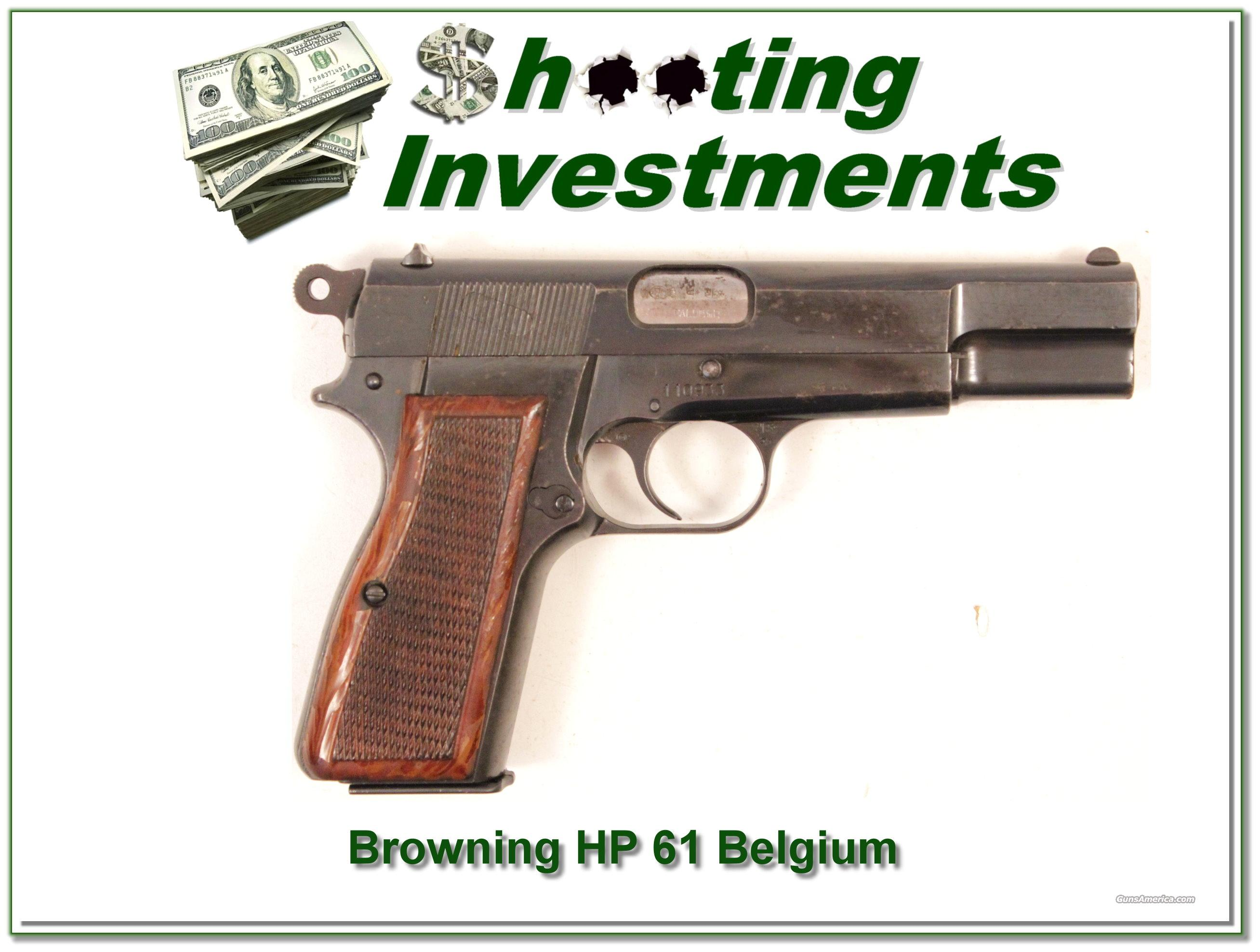 Browning High Power 61 Belgium 9mm  Guns > Pistols > Browning Pistols > Hi Power
