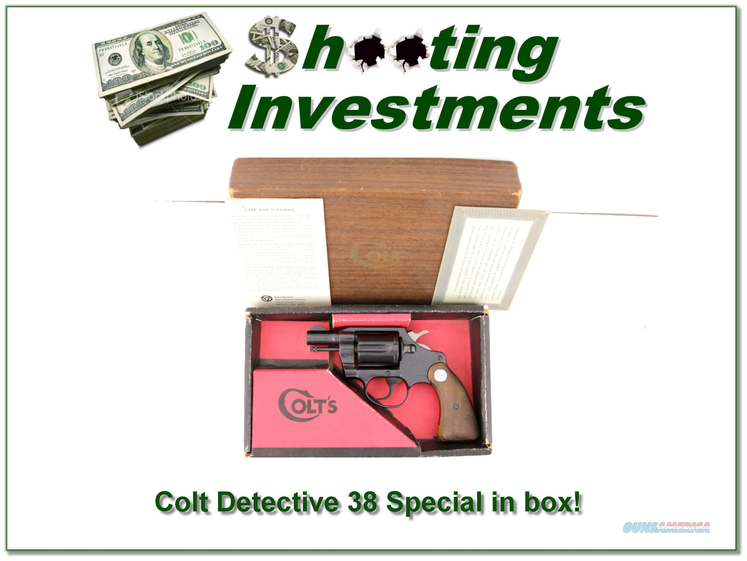 Colt Detective Special 2in 38 in box!  Guns > Pistols > Colt Double Action Revolvers- Modern