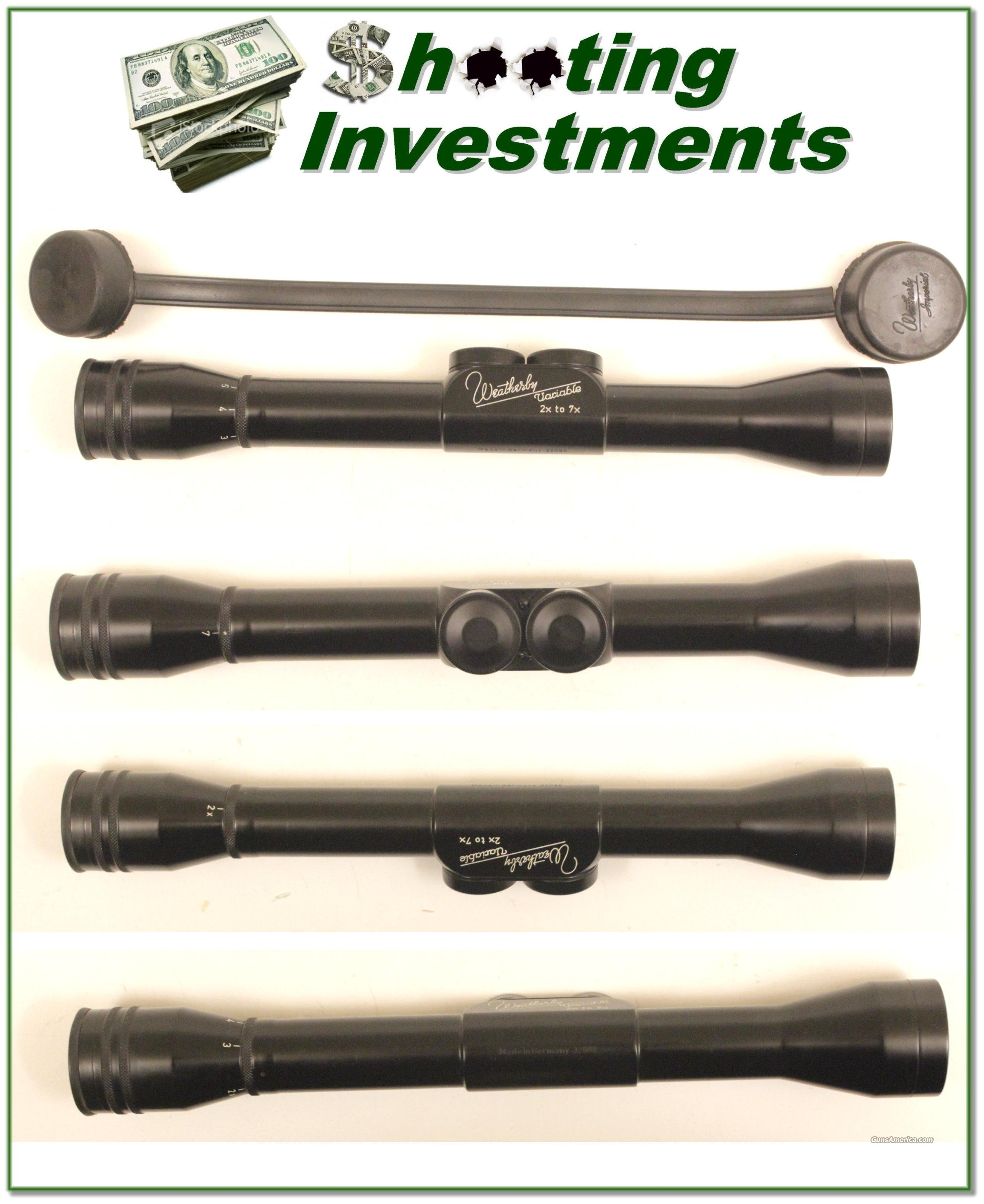 Weatherby Imperial vintage German 2-7x Rifle Scope   Non-Guns > Scopes/Mounts/Rings & Optics > Rifle Scopes > Variable Focal Length