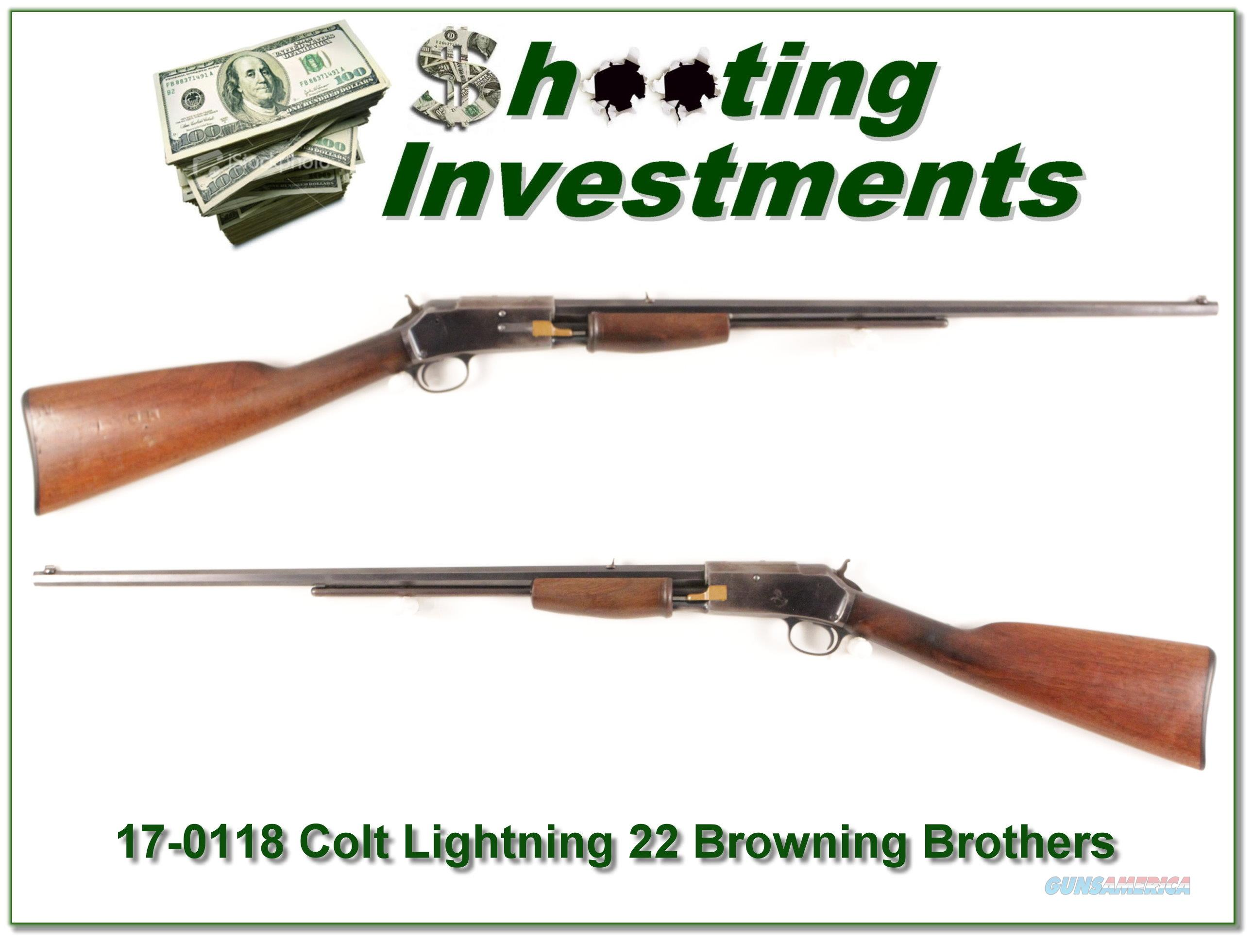 Colt Lightning 22 made in 1899 for Browning Brothers Utah Store!  Guns > Rifles > Colt Rifles - Non-AR15 Modern Rifles