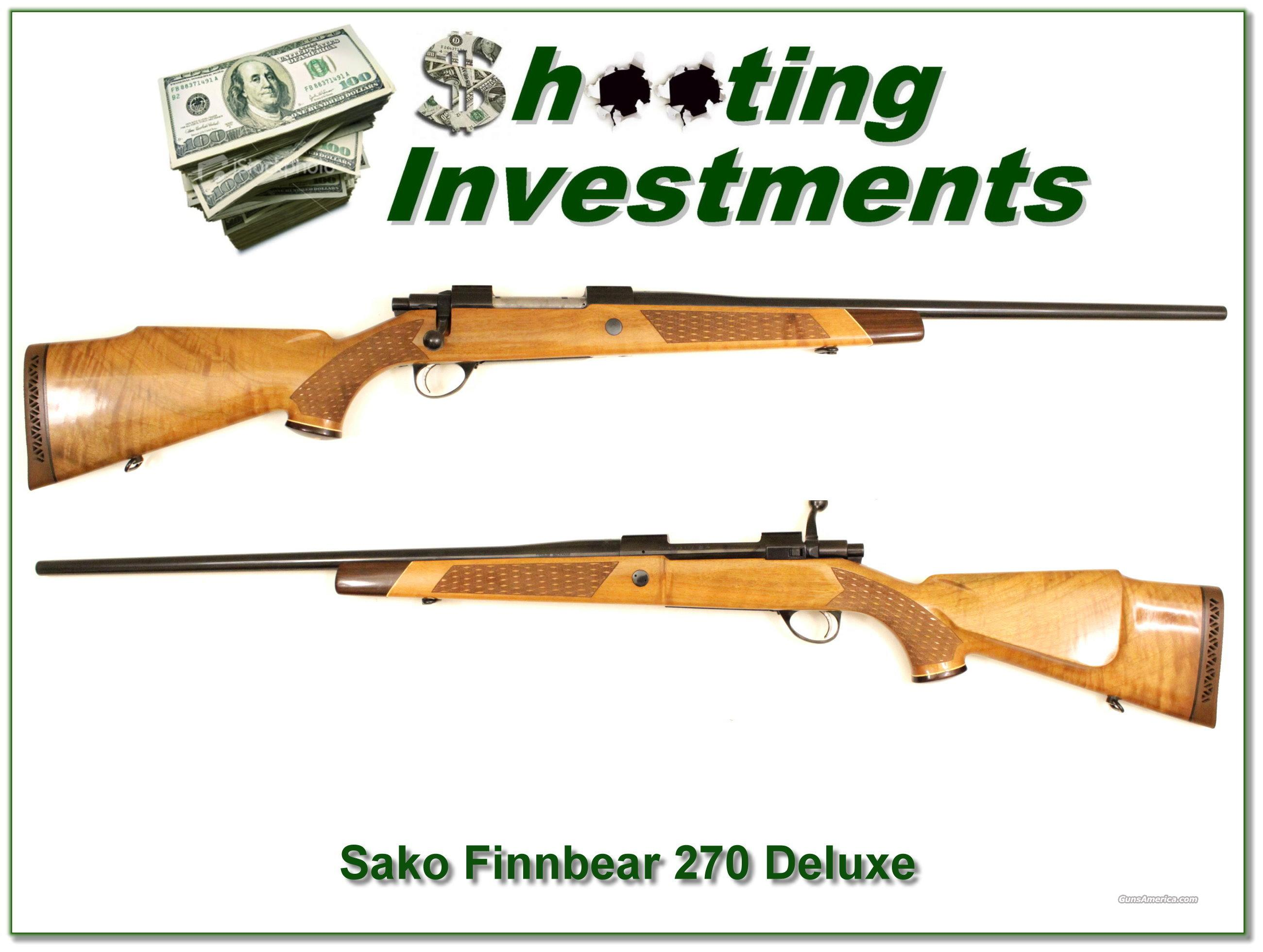 Sako Deluxe L61R 270 Win Exc Cond  Guns > Rifles > Sako Rifles > Other Bolt Action