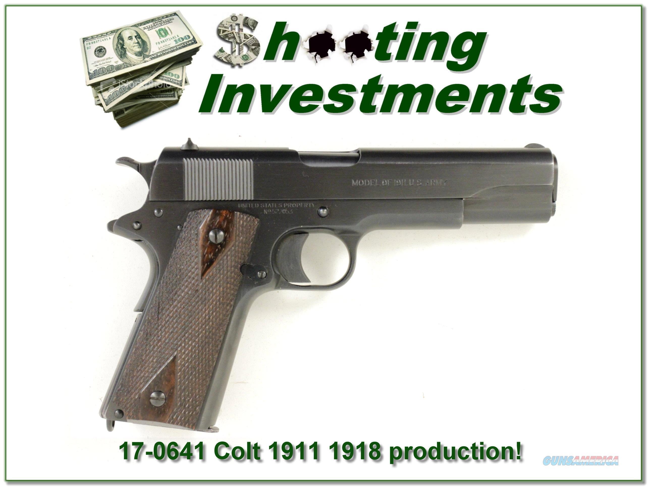 Colt 1911 1918 beautiful condition!  Guns > Pistols > Colt Automatic Pistols (1911 & Var)