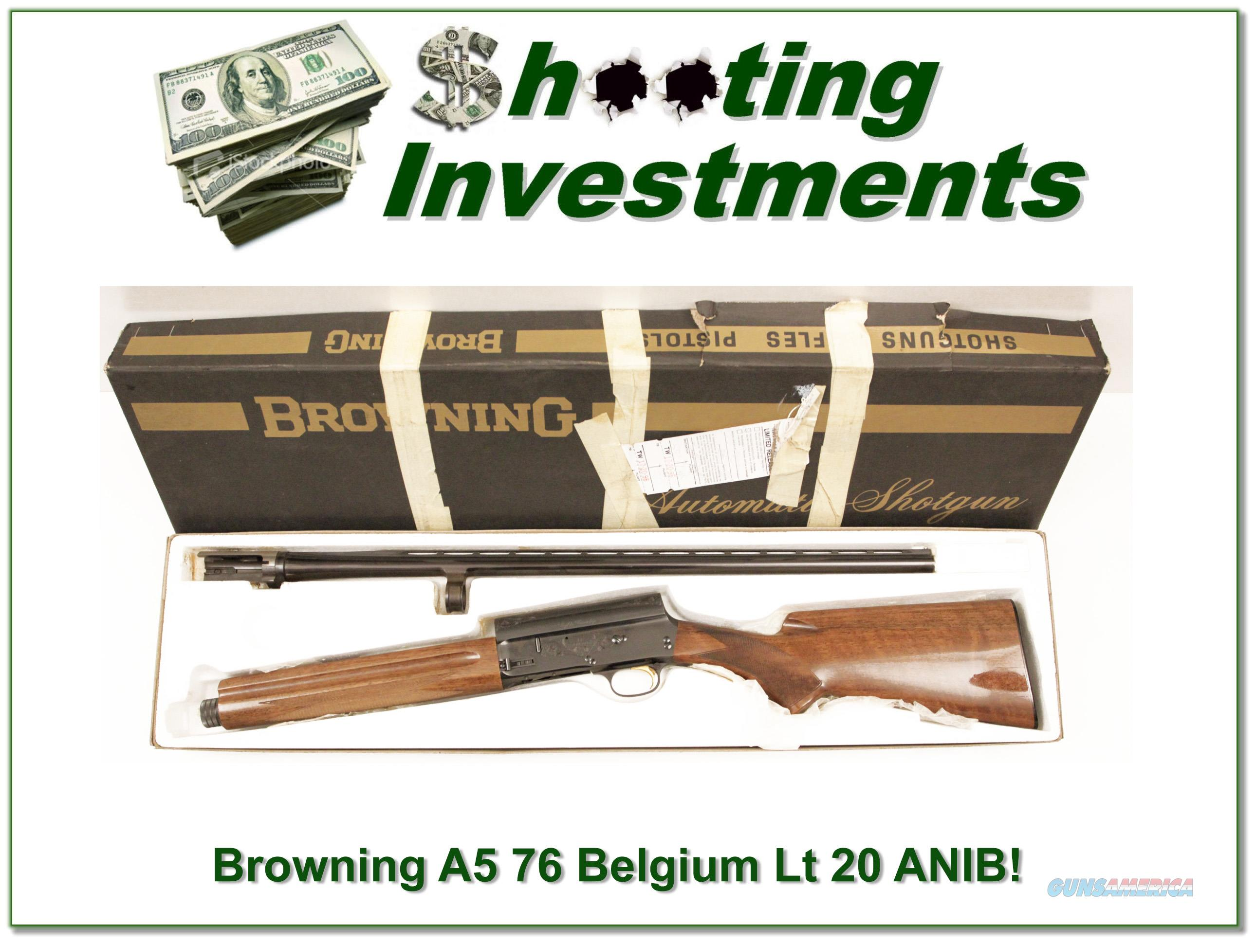 Browning A5 Light 20 76 Belgium 26 VR IC ANIB!  Guns > Shotguns > Browning Shotguns > Autoloaders > Hunting